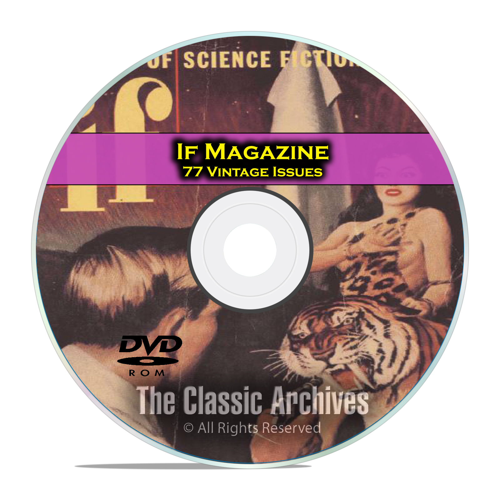 IF Magazine, 77 Vintage Pulp Issues, Golden Age Science Fiction DVD