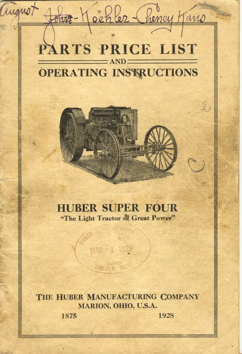 Farm Tractor Catalog Massey Harris Twin City Rumely
