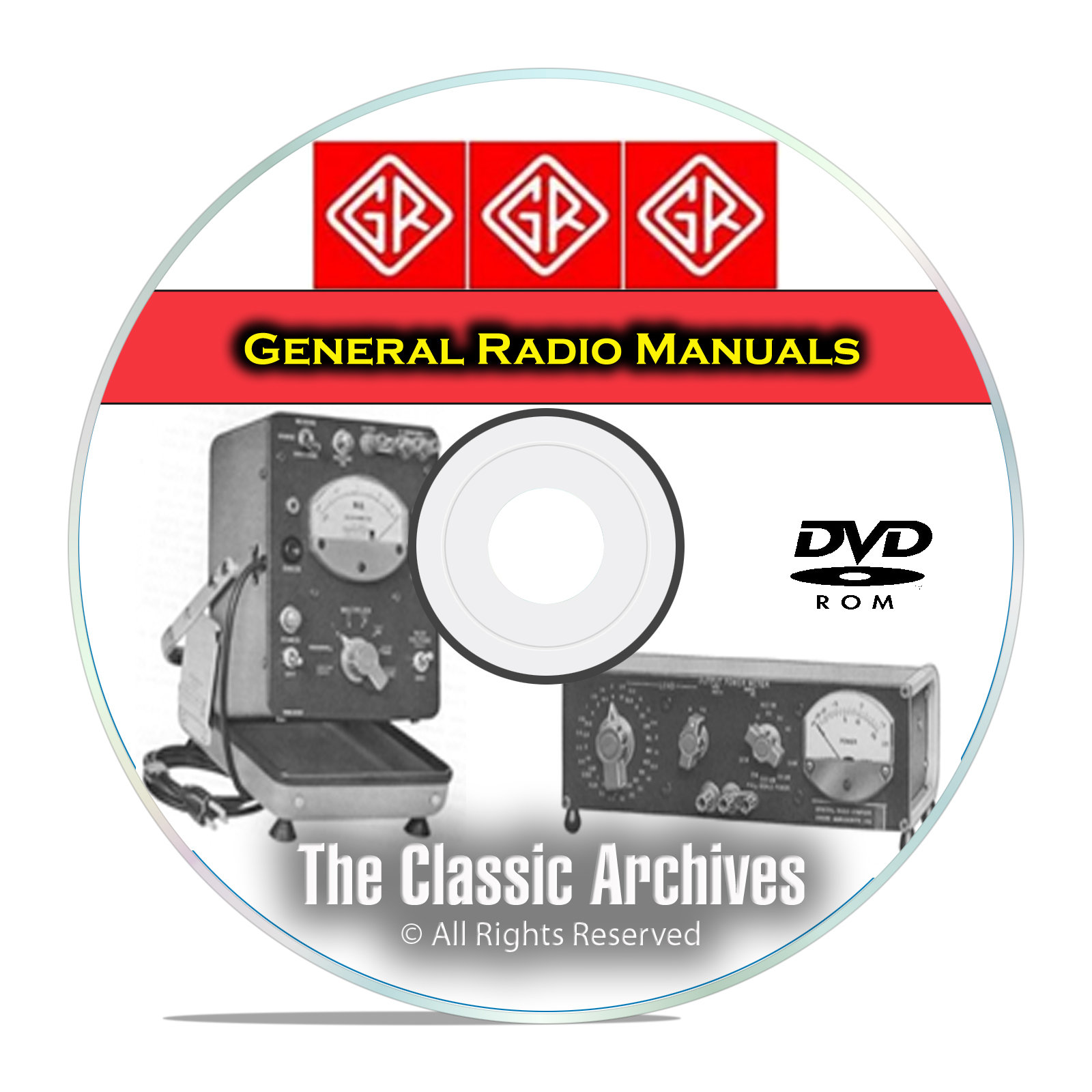 General Radio Service, Maintenance, & Operating Manuals, 341 in Total DVD