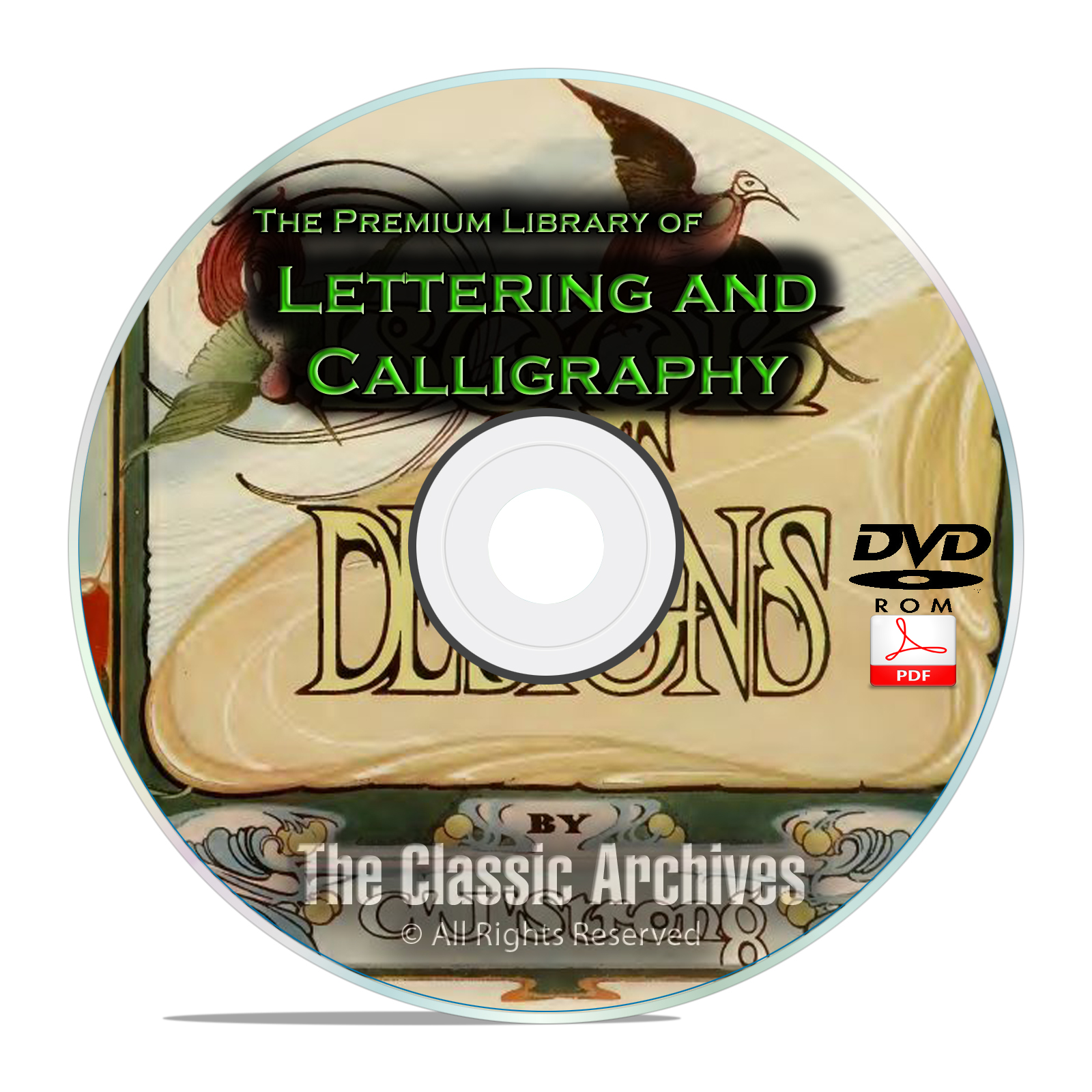 Lettering Calligraphy Library, Monograms Ciphers Sign Writing 164 Books DVD