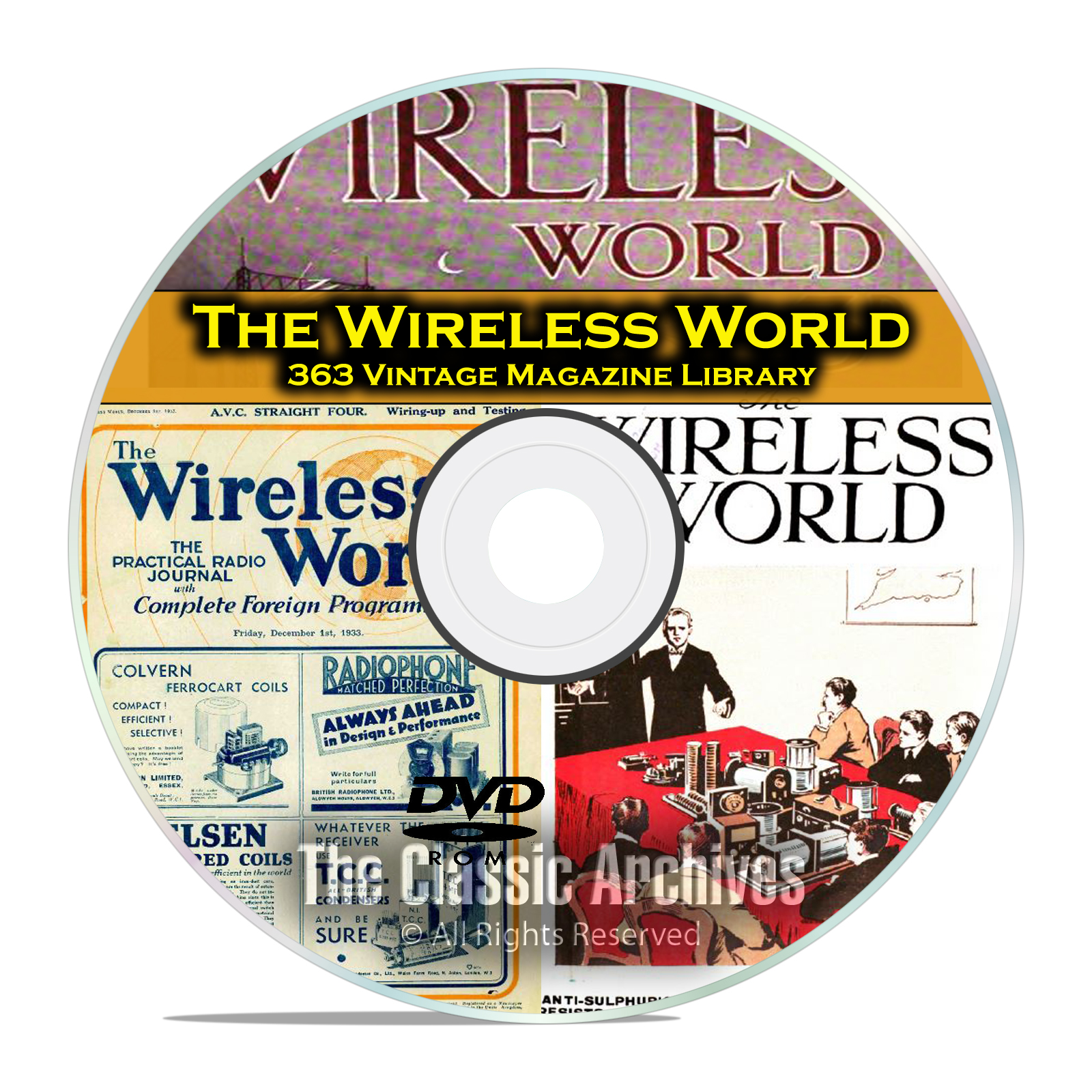 The Wireless World, 363 Vintage Old Time Radio Magazine Collection PDF DVD