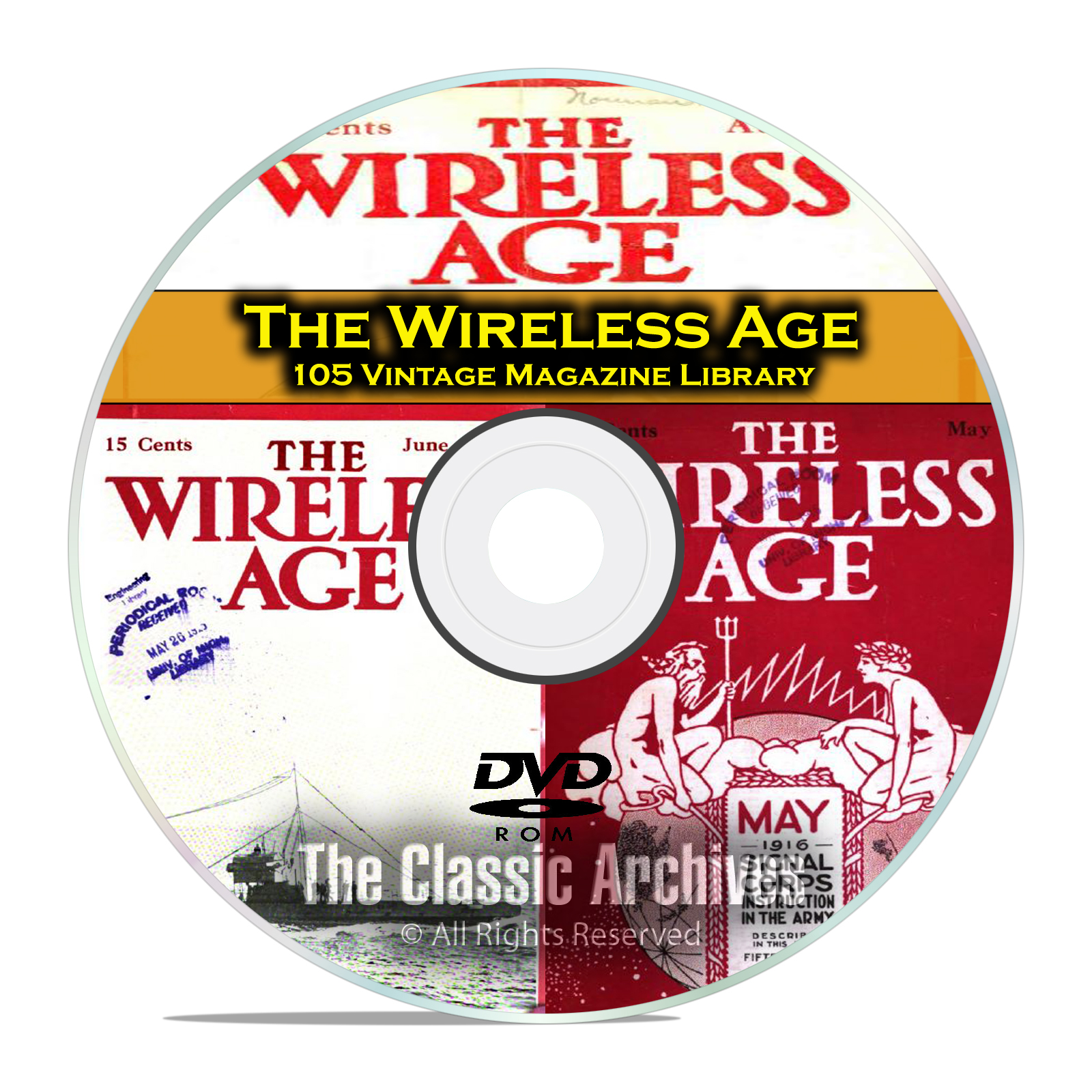 The Wireless Age, 105 Vintage Old Time Radio Magazine Collection PDF DVD