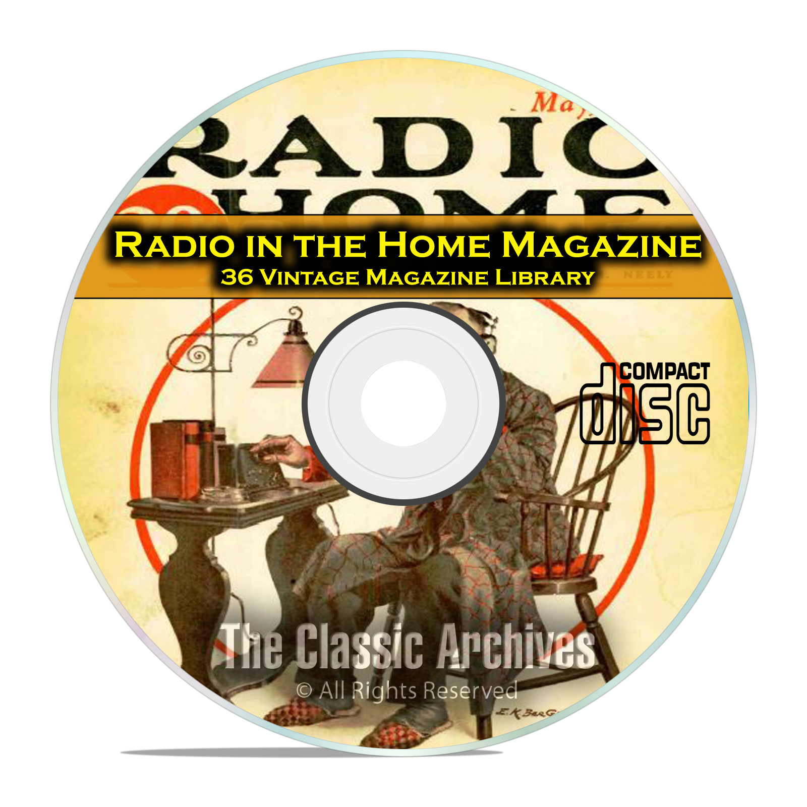 Radio In The Home, 36 Vintage Old Time Radio Magazine Collection in PDF CD
