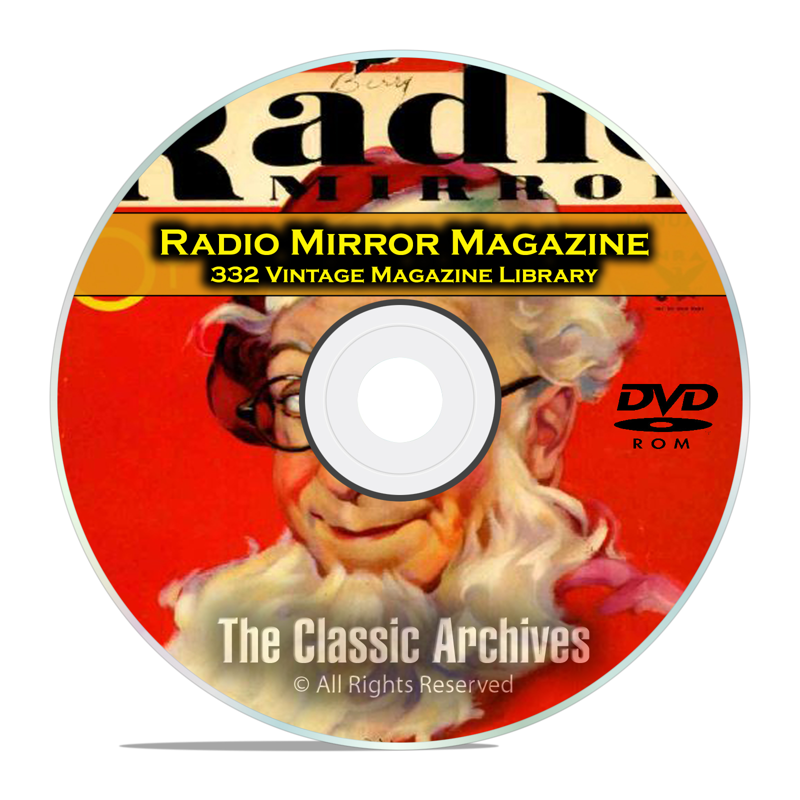 Radio Mirror, 332 Vintage Old Time Radio Magazine Collection in PDF on DVD