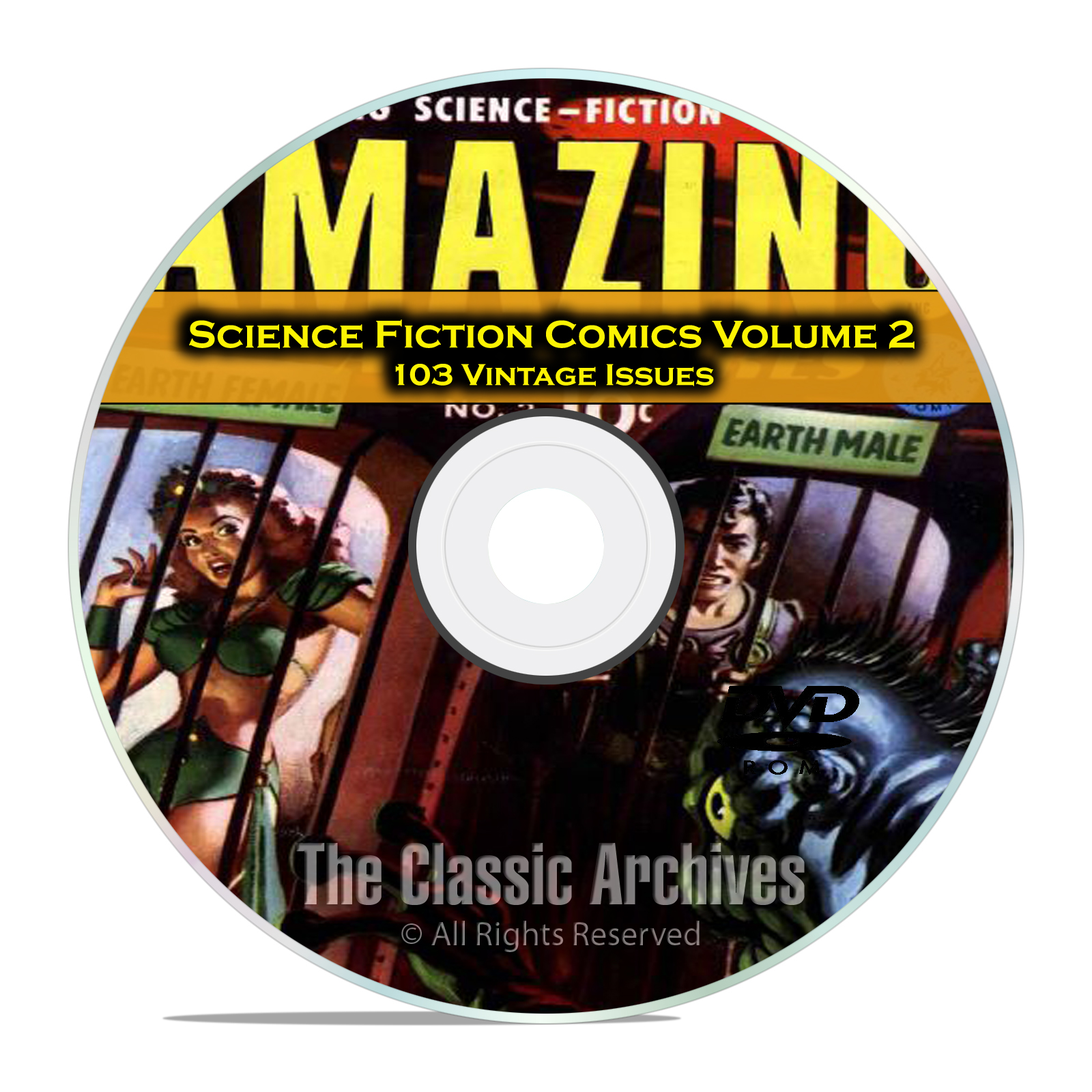 Science Fiction Comics, Vol 2, Strange Worlds Amazing Golden Age Comics DVD