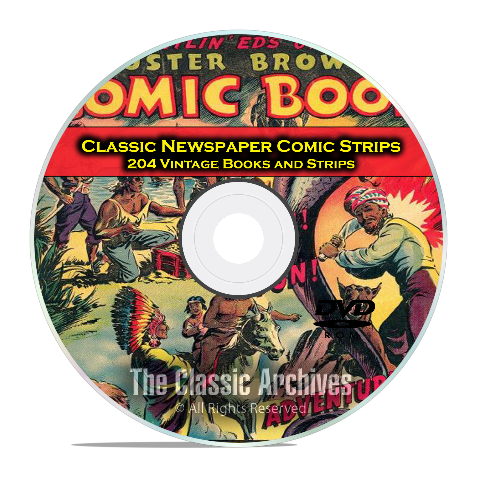 Classic Newspaper Comic Strips, Buster Brown, Nemo, Golden Age Comics DVD