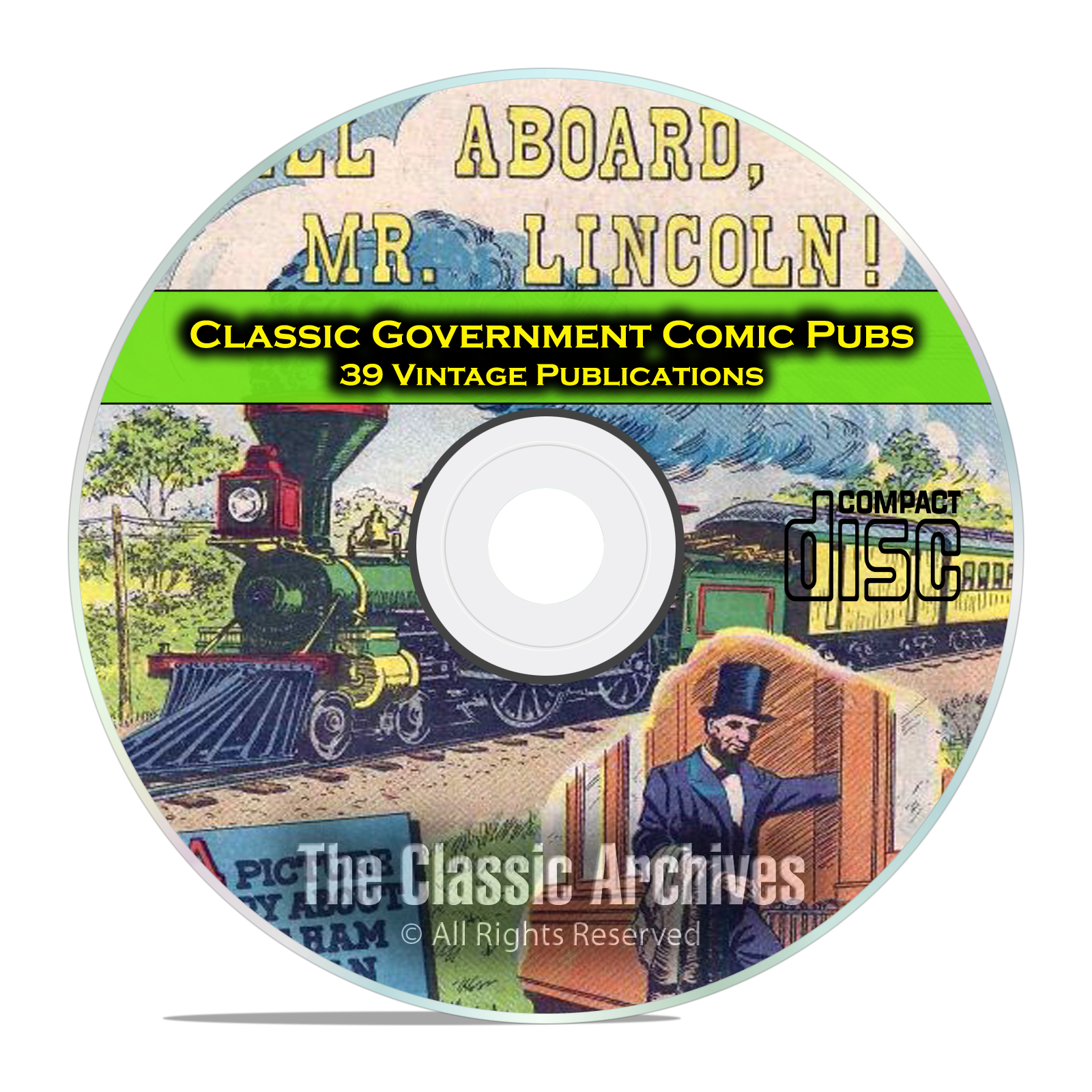 Classic Government Publications, Comics, 39 Issues Golden Age Comics CD
