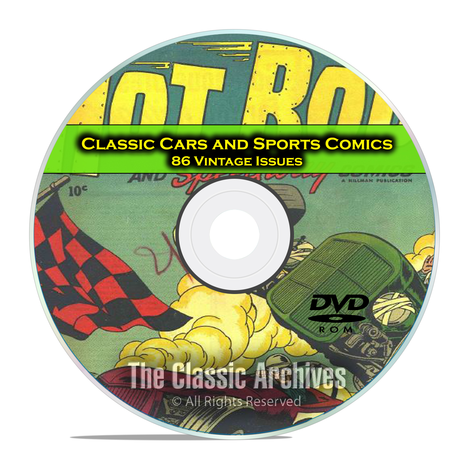 Classic Car Comics, Sports Comics, 86 Vintage Issues, Golden Age Comics DVD