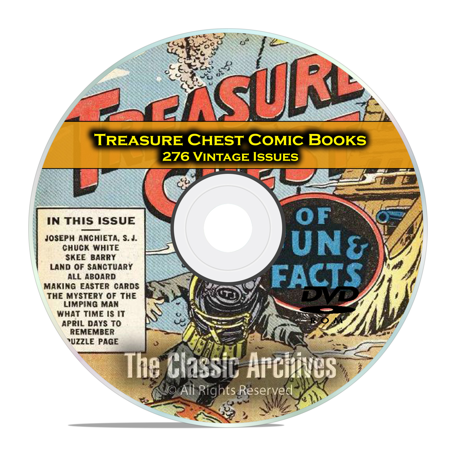 Treasure Chest Comic Books, Catechetical Guild, 276 Golden Age Comics DVD - Click Image to Close