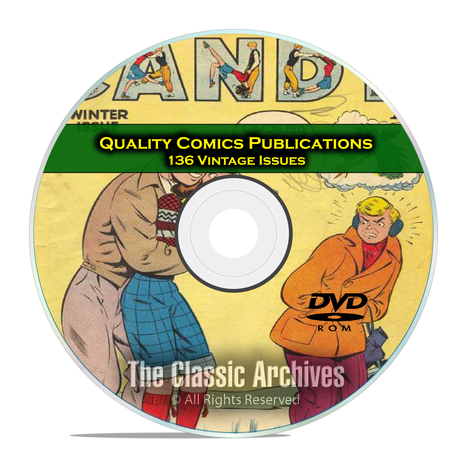 Quality Comics, Candy, Heart Throbs, Hollywood, 136 Golden Age Comics DVD