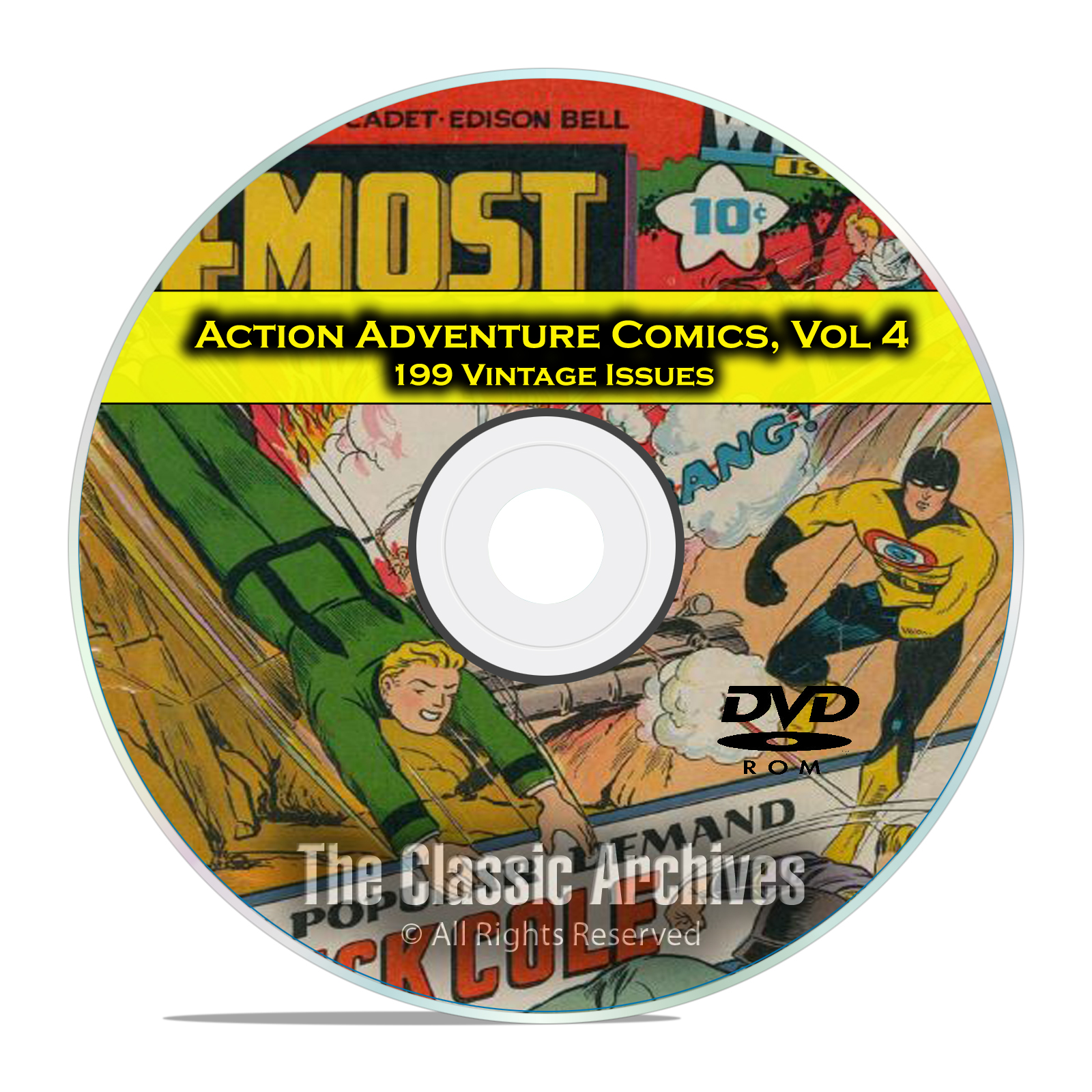 Action Adventure Comics Vol 4, Blue Bolt Picture News 4 Most Golden Age DVD