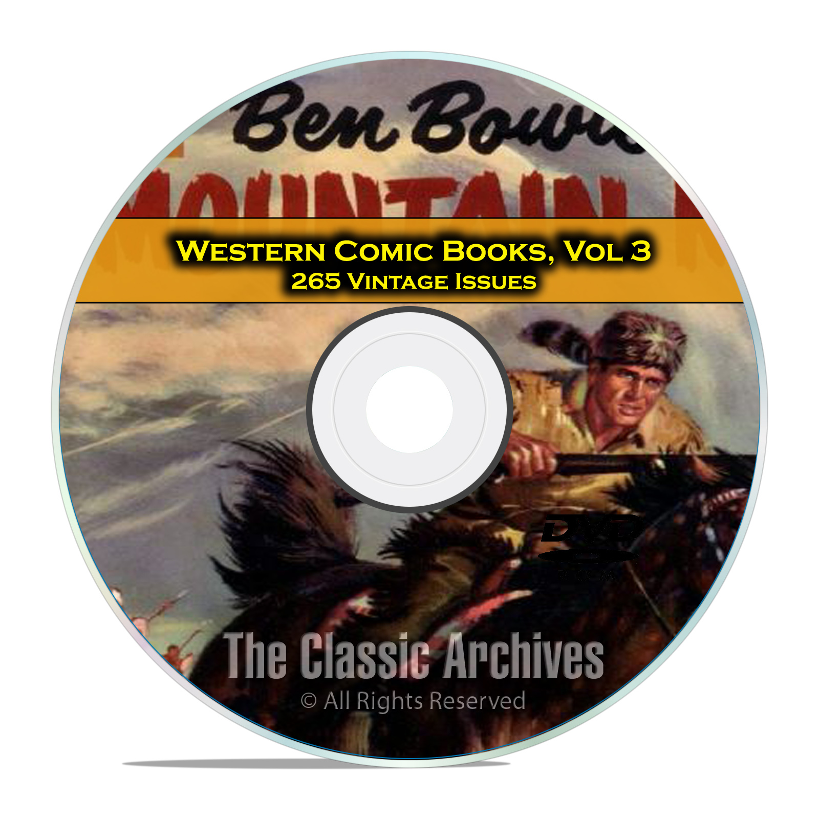 Western Comic Books, Vol 3, Bob Colt, Range Rider, Outlaws, Golden Age DVD