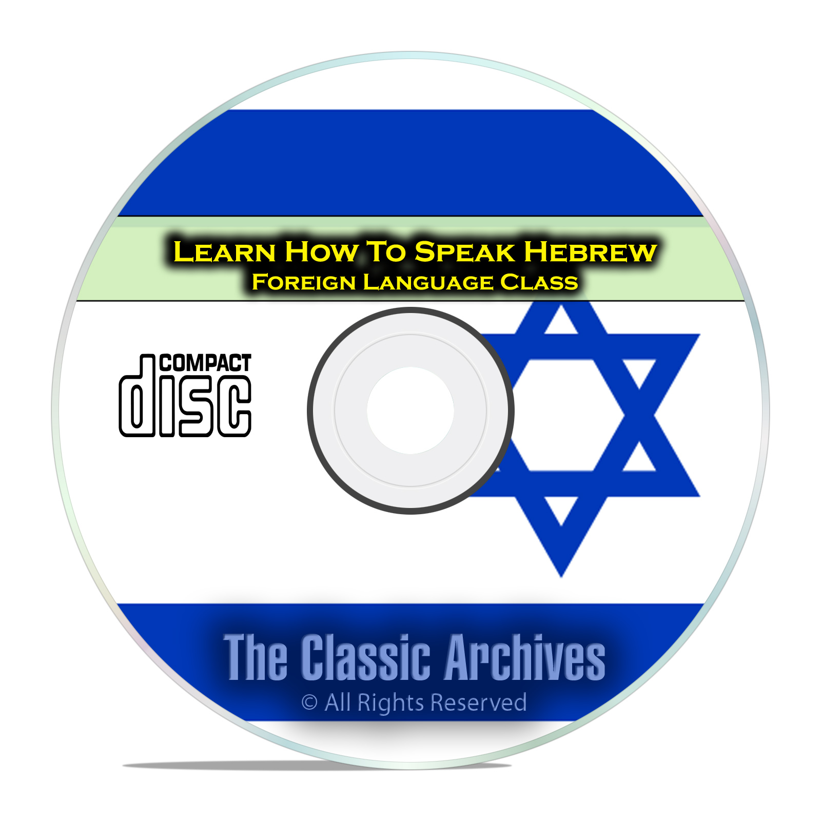 Learn How To Speak Hebrew, Fast Easy Foreign Language Training Course, CD