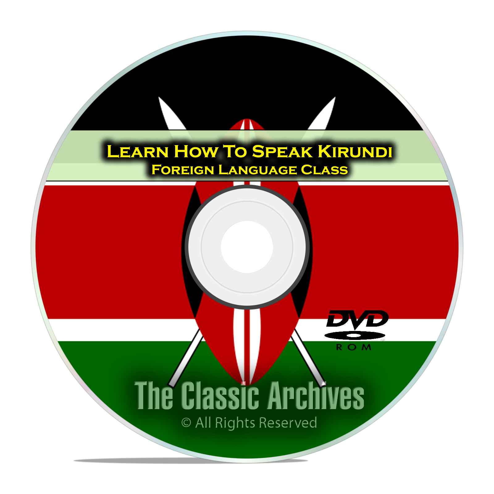 Learn How To Speak Kirundi, Fast Foreign Language Training Course, DVD