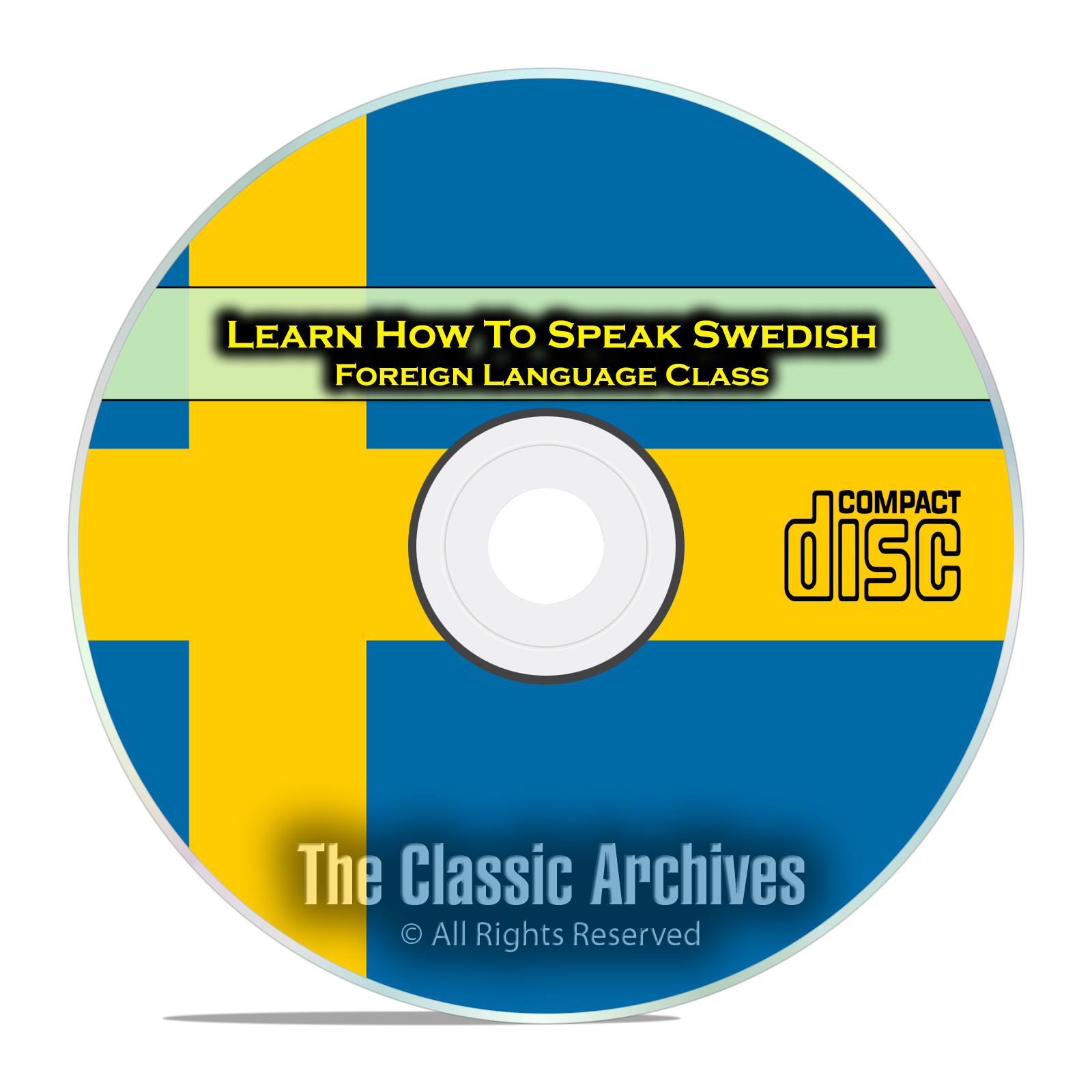 Learn How To Speak Swedish, Fast & Easy Foreign Language Training Course CD