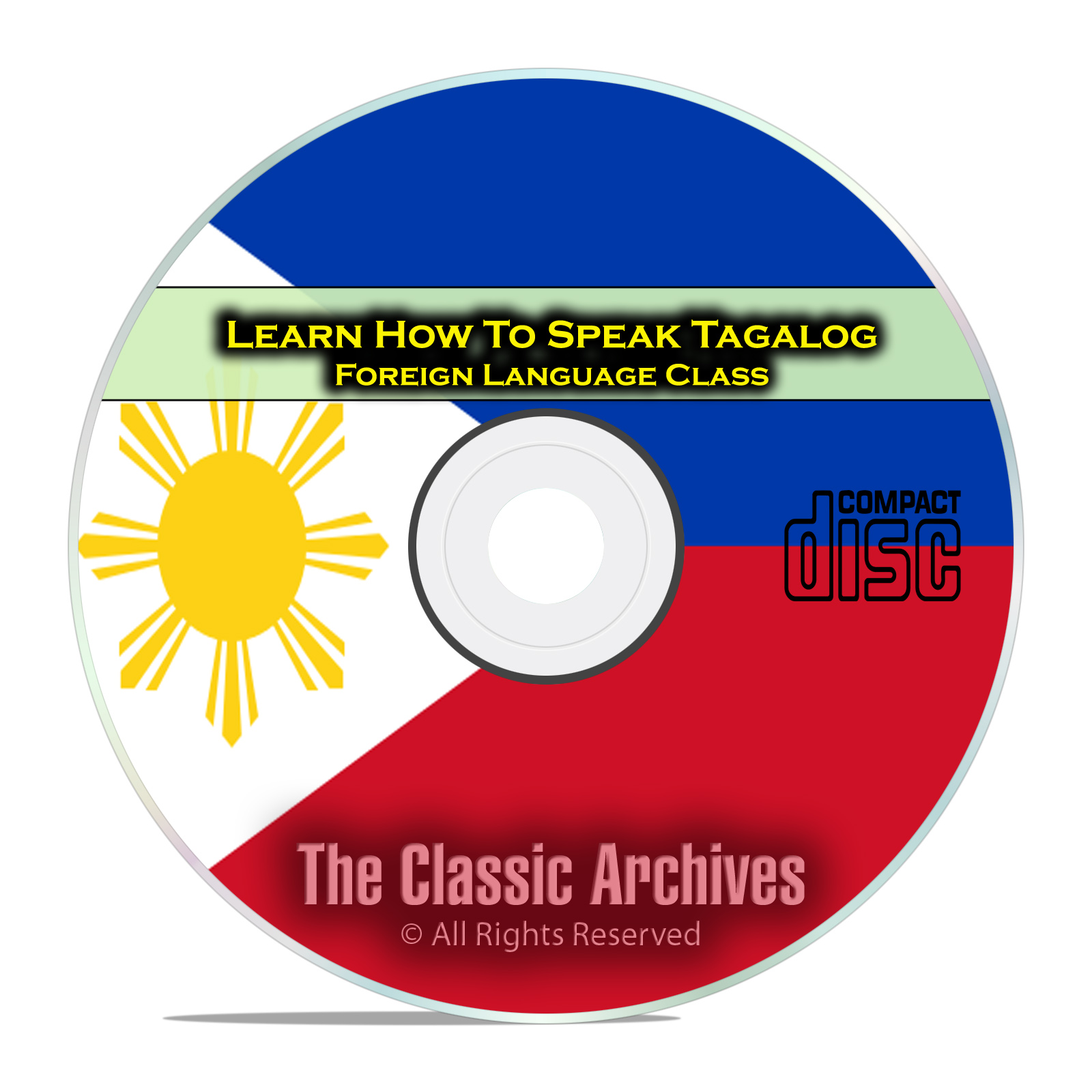 Learn How To Speak Tagalog, Fast & Easy Foreign Language Training Course CD