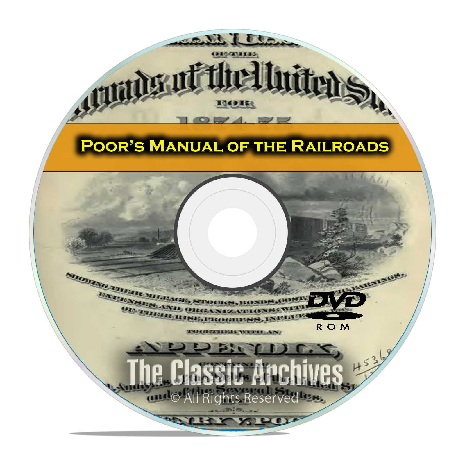 Poor's Manual of Railroads, 24 Railroad US History Volumes DVD