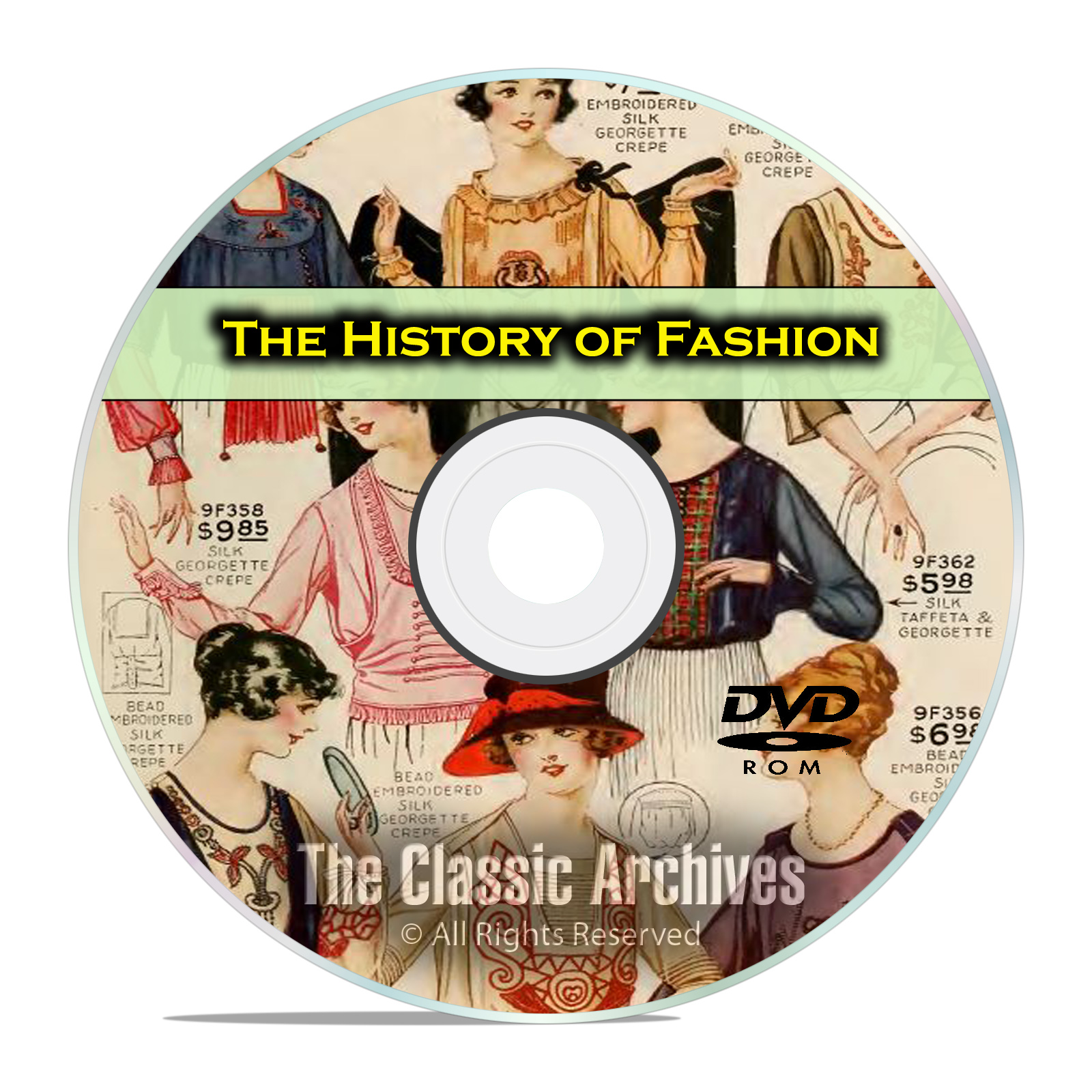 The History of American Fashion, Vintage Clothing Catalogs, 105 Books DVD