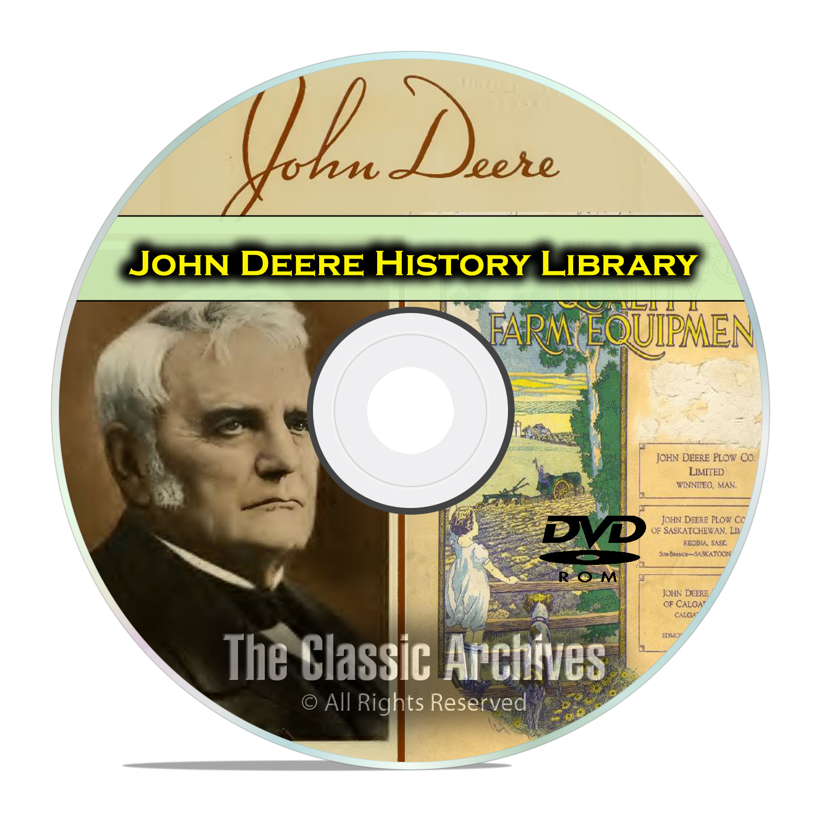 The History of John Deere, Farming, Plow Catalogs Antique Tractor Books DVD