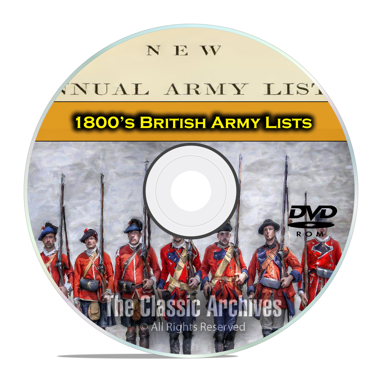1800's British Army Lists, 1840-1899, 43 Volumes of British History PDF DVD