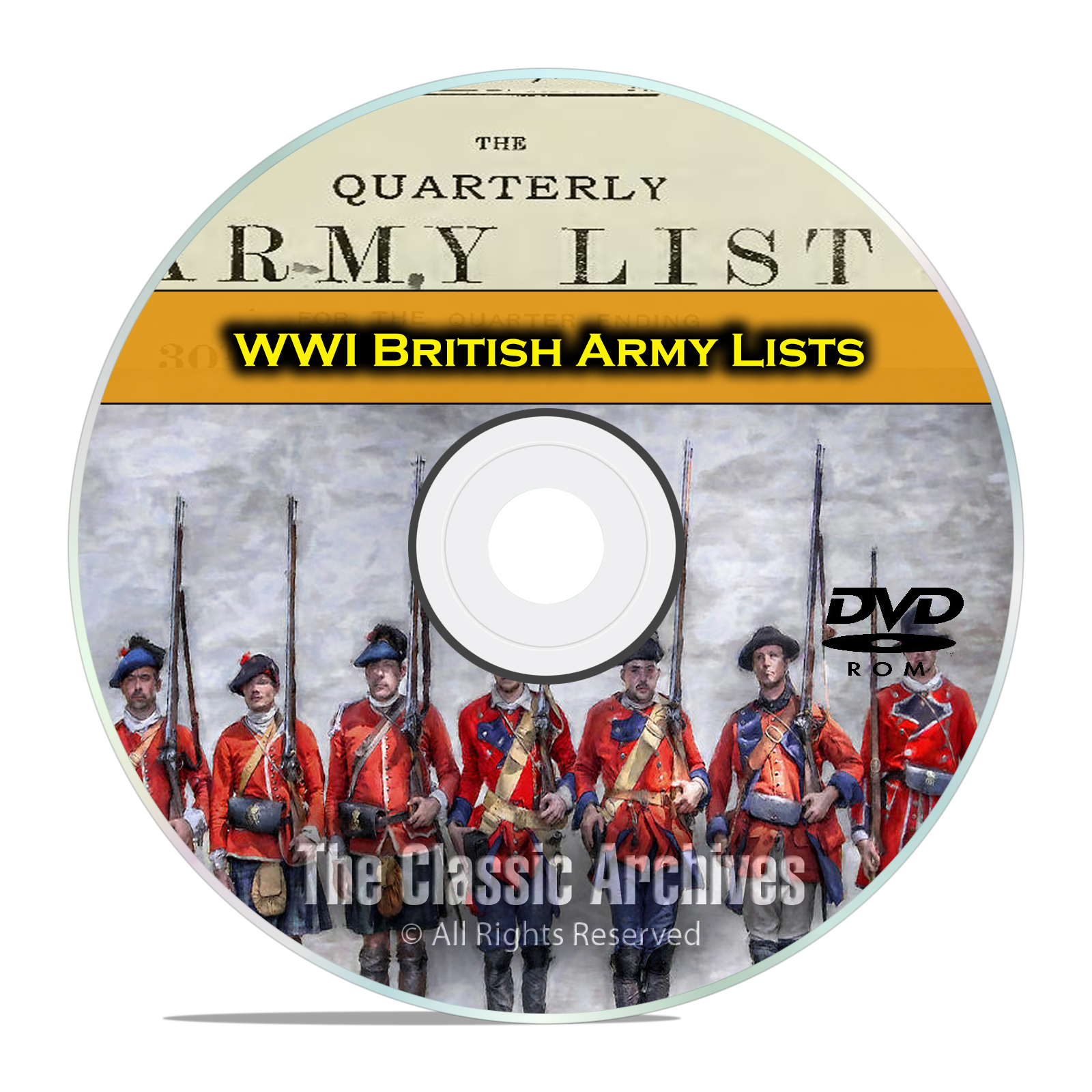 End WWI British Army Lists, 1916-1919, 39 Volumes British History PDF DVD