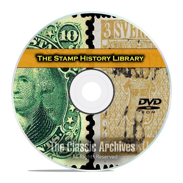 224 Books on Postage Stamp Collecting​, Philately Printable Books Album DVD