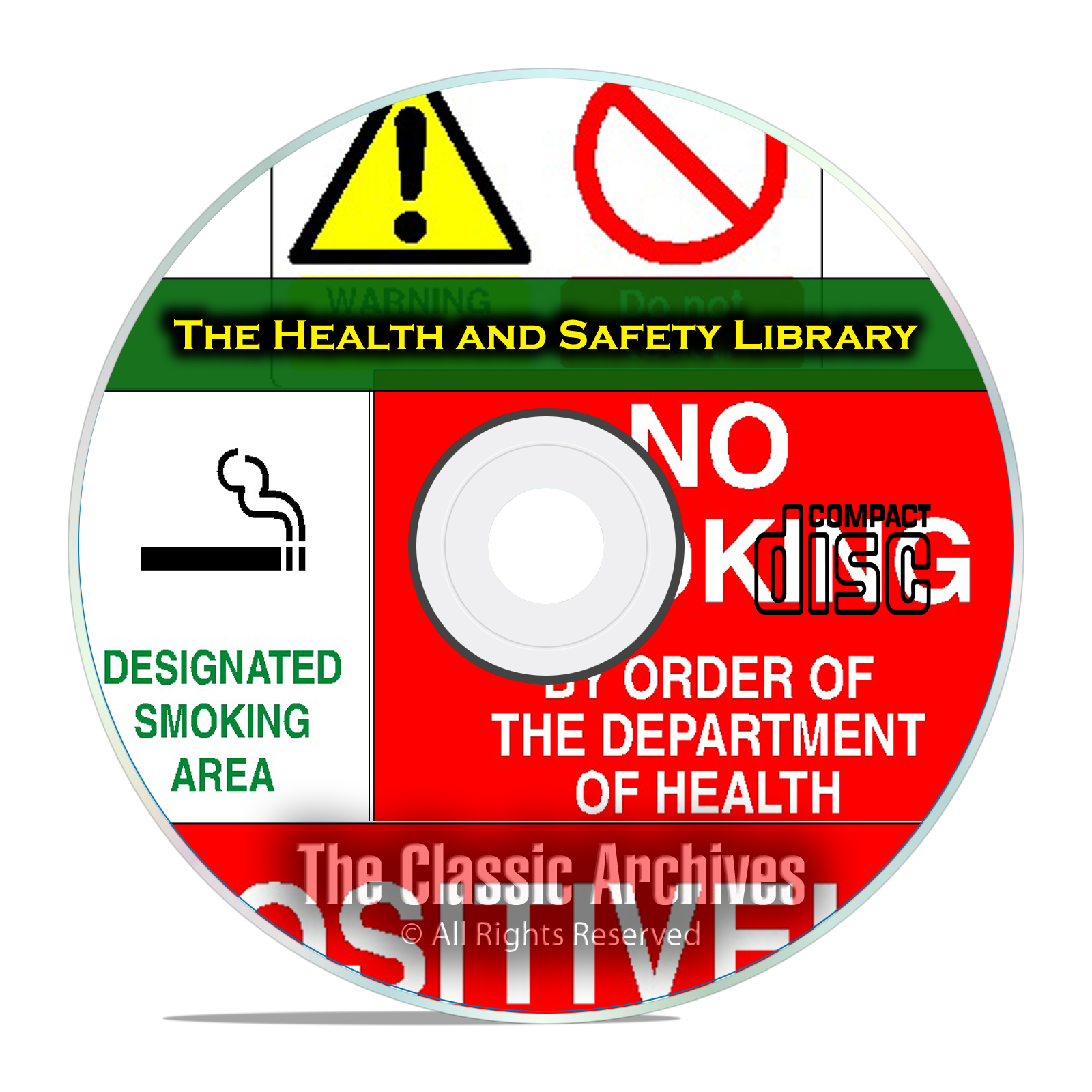 8,500+ Printable Health And Safety OSHA Warning Signs & Posters on CD