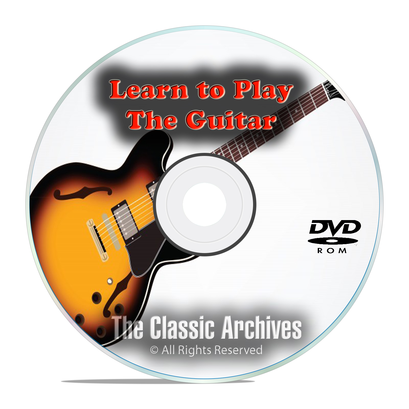 Learn How To Play the Guitar, Electric or Acoustic, Tutorial Lessons DVD
