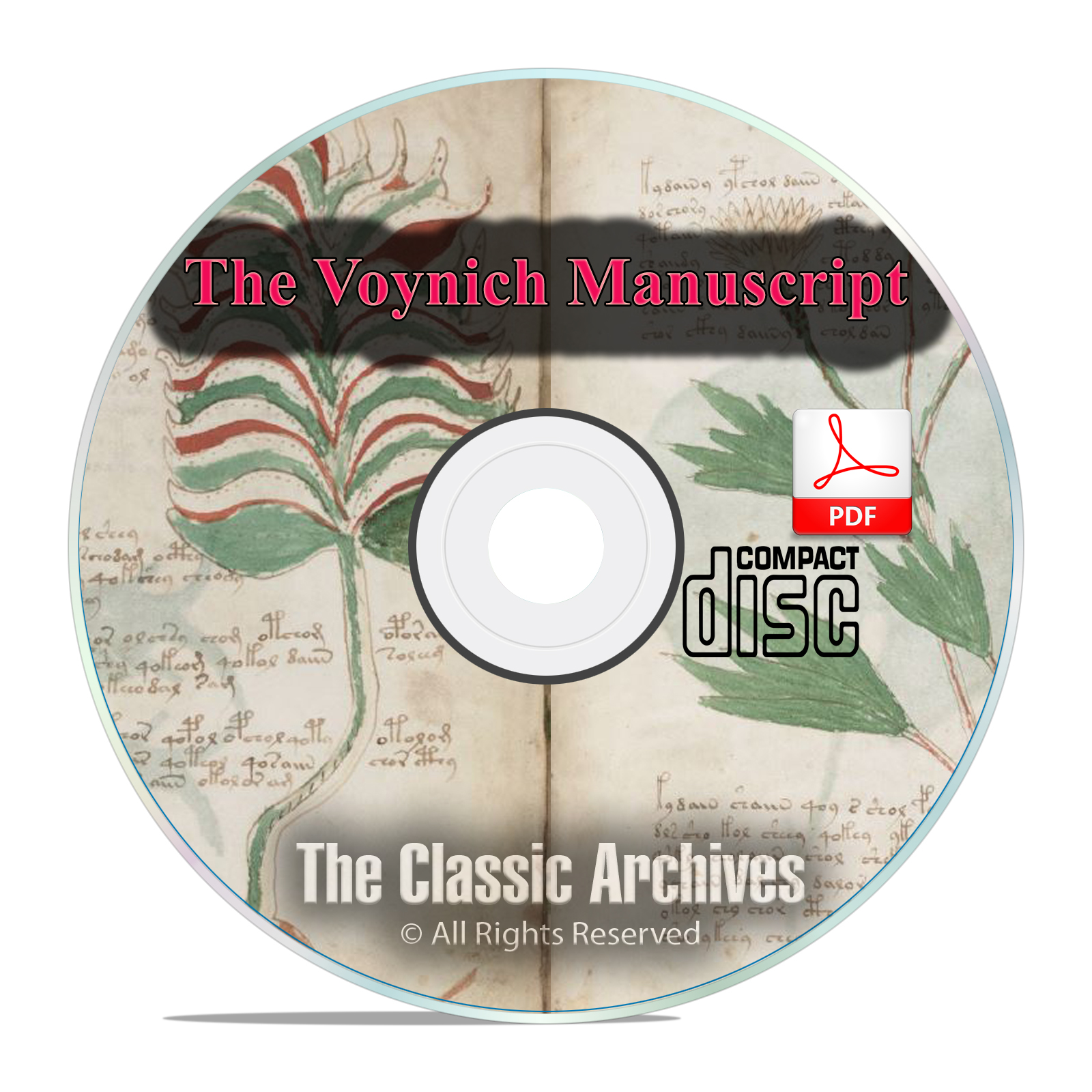 The Voynich Manuscript, Mysterious Unsolved Code Cryptography Book PDF CD