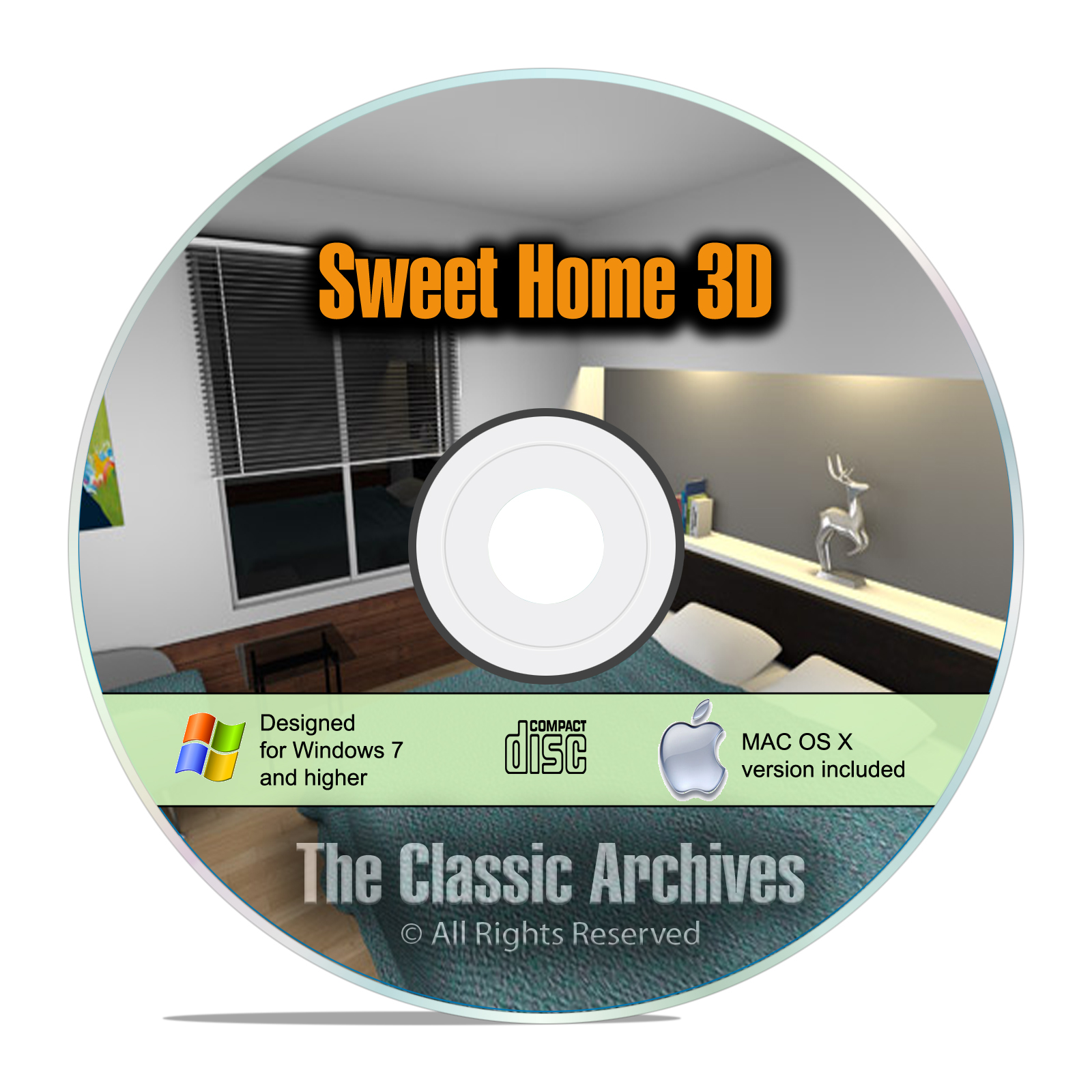 Sweet Home 3D Interior Design House Architect Software, Kitchen Bathroom CD