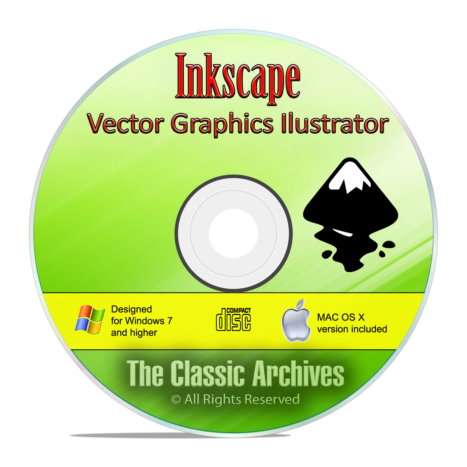 Inkscape, The Professional Graphics Illustrator Drawing Software Win/Mac CD