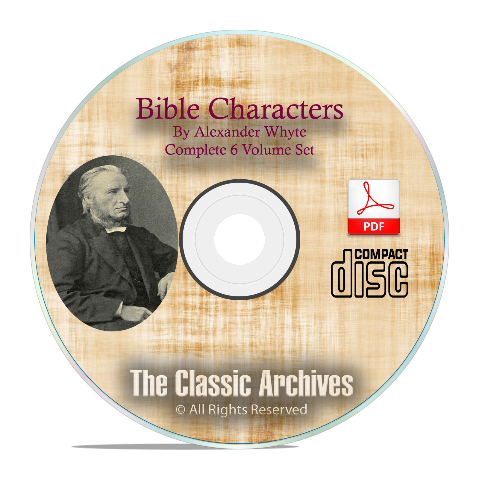 BIBLE CHARACTERS, by Alexander Whyte, Scripture Commentary, Full Set on CD