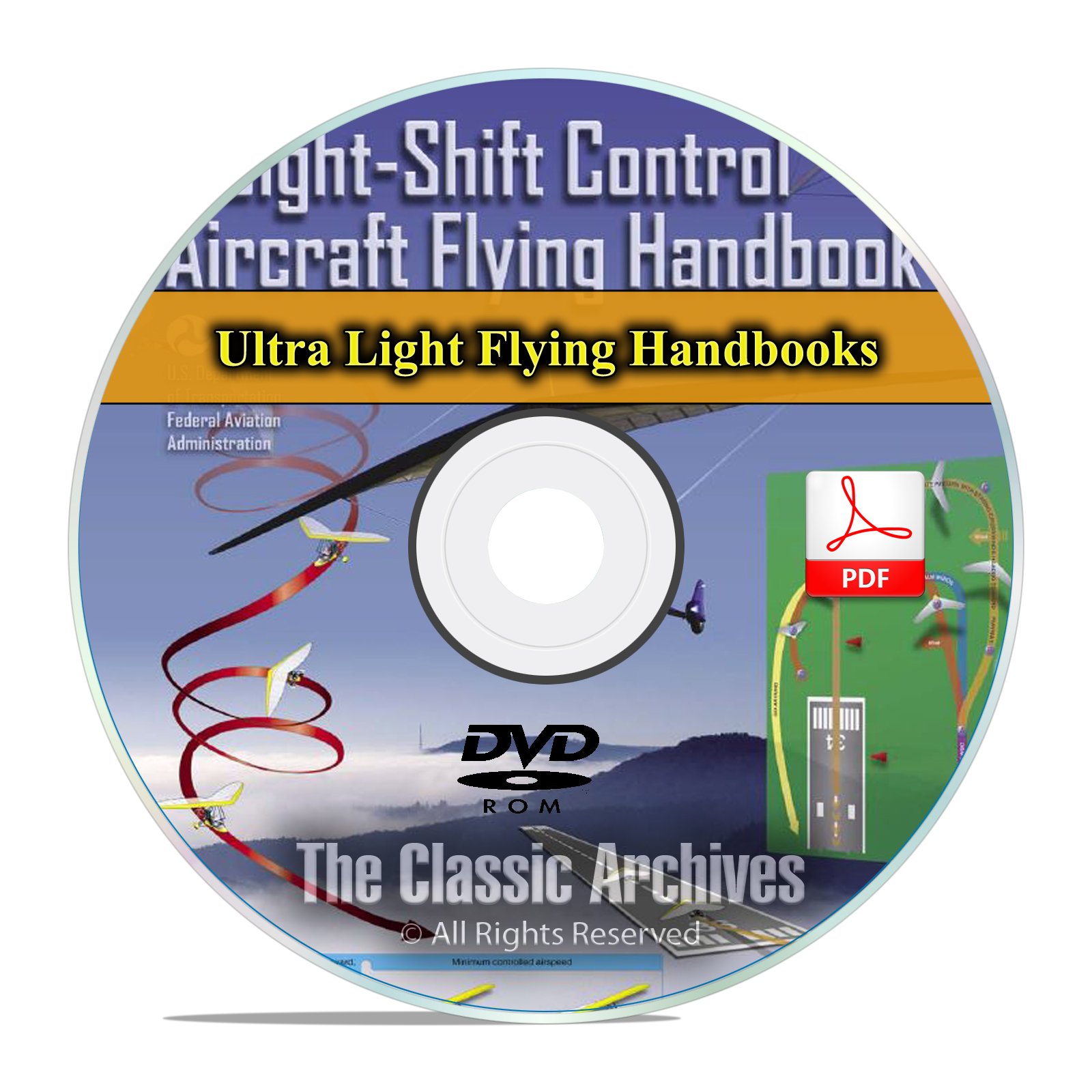 Ultralight Trike Aircraft Flying Handbook Hobby Airplanes Weight Control CD