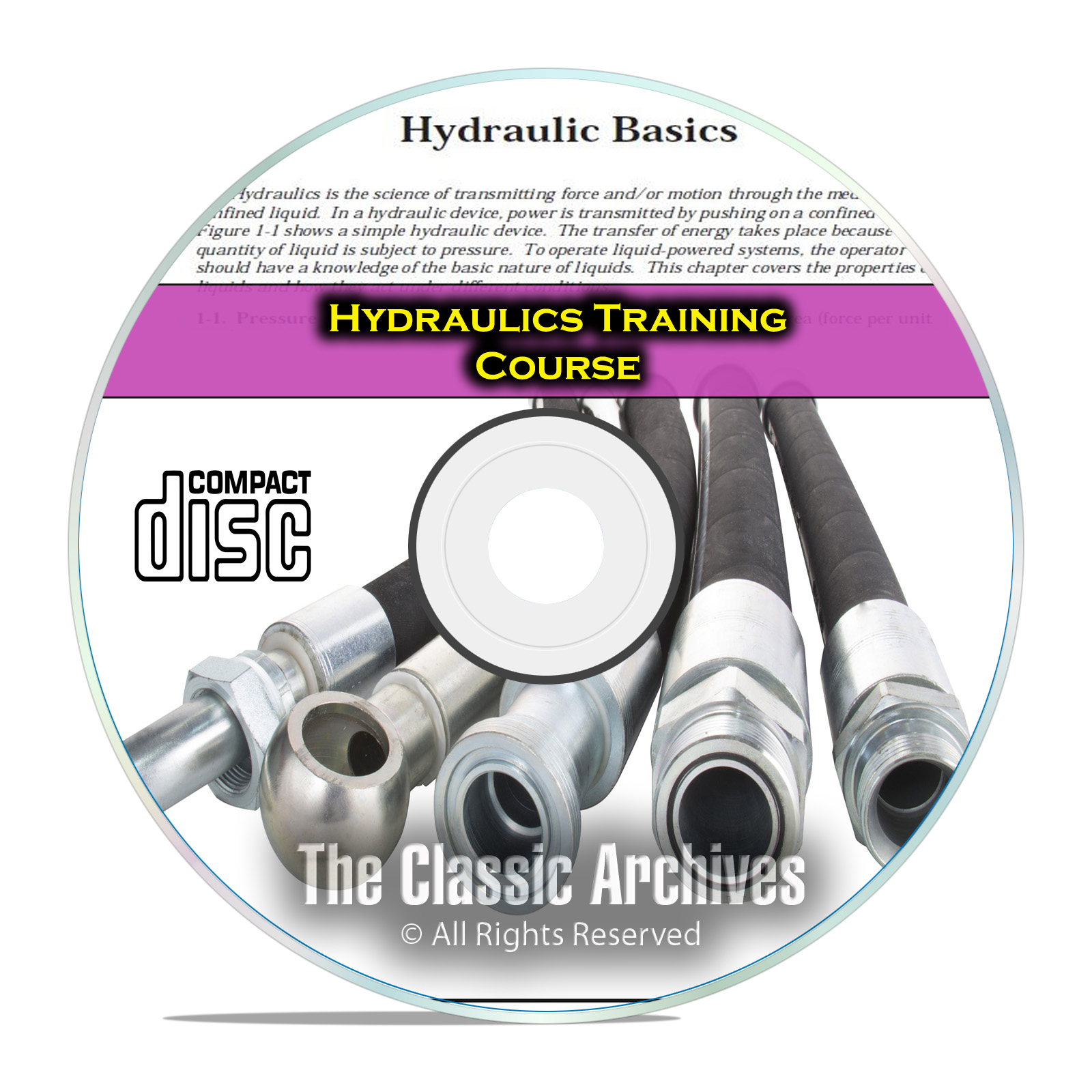 Hydraulic Fluid Power Valve Pump Training Repair Manual Course Books CD