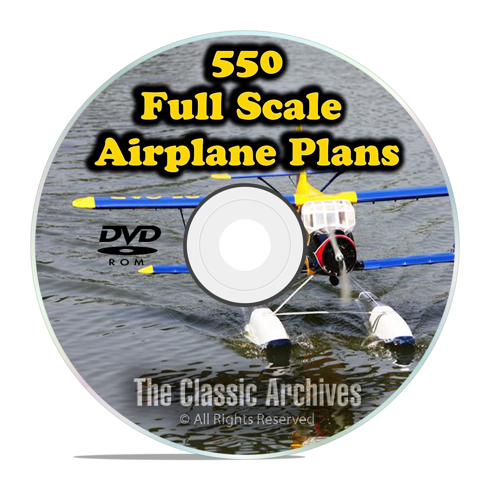 550 Giant Scale RC Model Airplane Plans Templates, Bombers Military PDF DVD