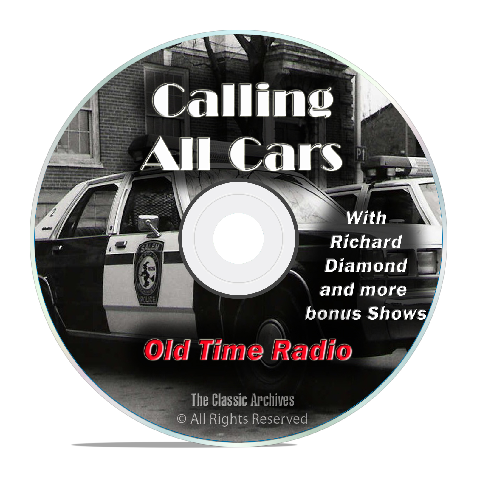 Calling All Cars, 615 Episodes Old Time Radio Crime Detective OTR DVD MP3