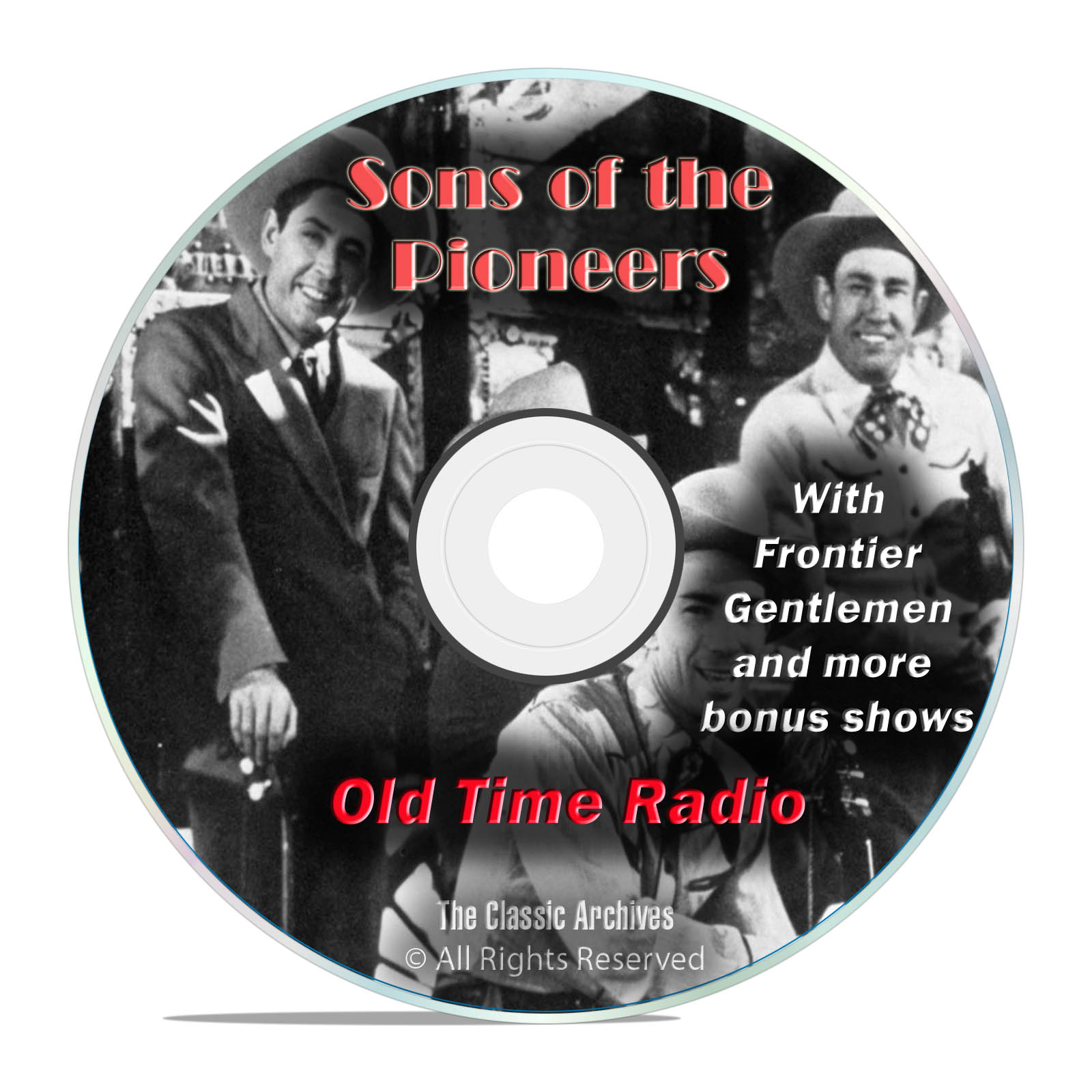 Sons Of The Pioneers, 1,018 Episodes Old Time Radio Westerns, OTR DVD MP3