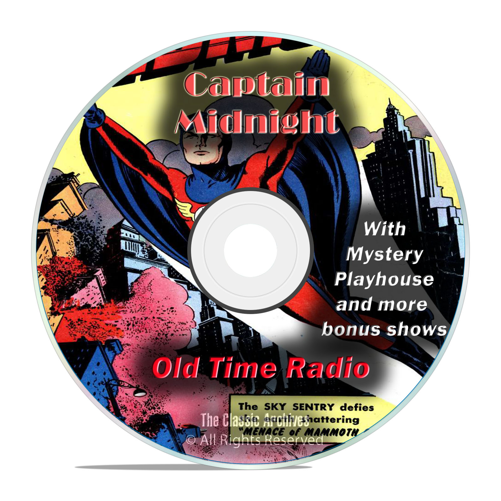 Captain Midnight, 920 Episodes Old Time Radio Adventure Mystery, OTR DVD