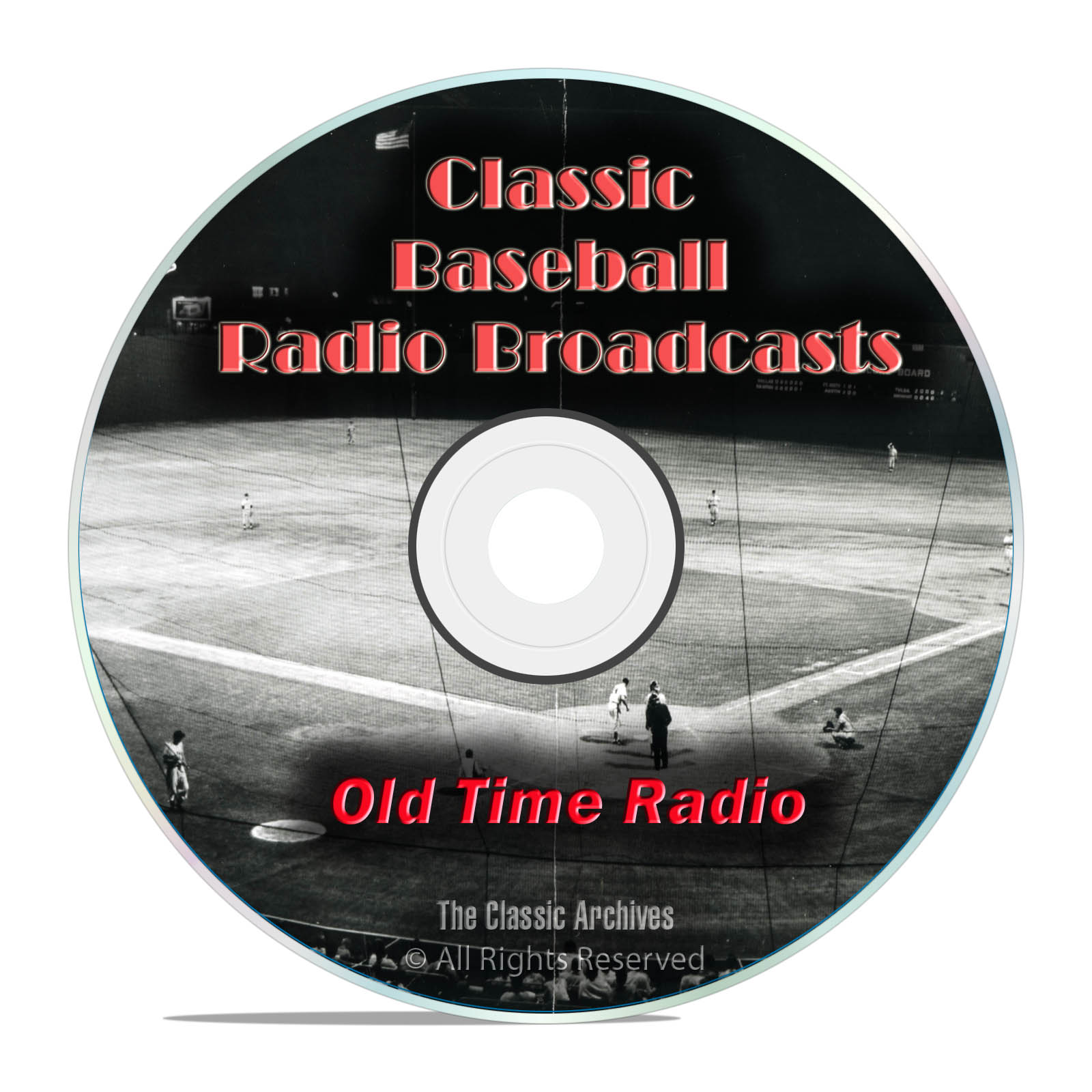 Baseball Old Time Radio Broadcasts, 693 Classic Sports Broadcast OTR DVD