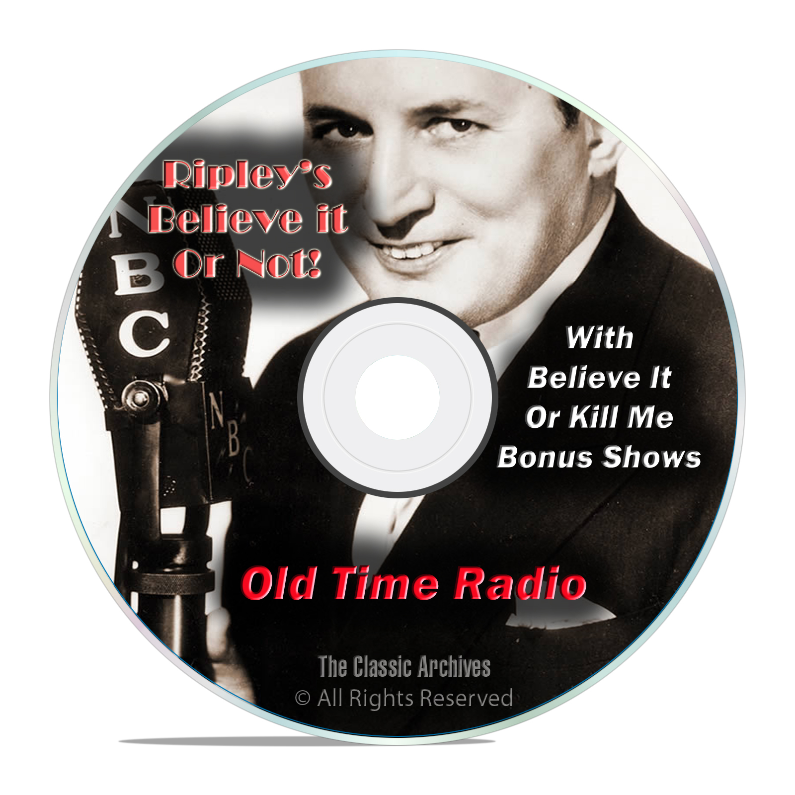 Ripley's Believe It Or Not!, 1,483 Old Time Radio Shows, Weird OTR, DVD