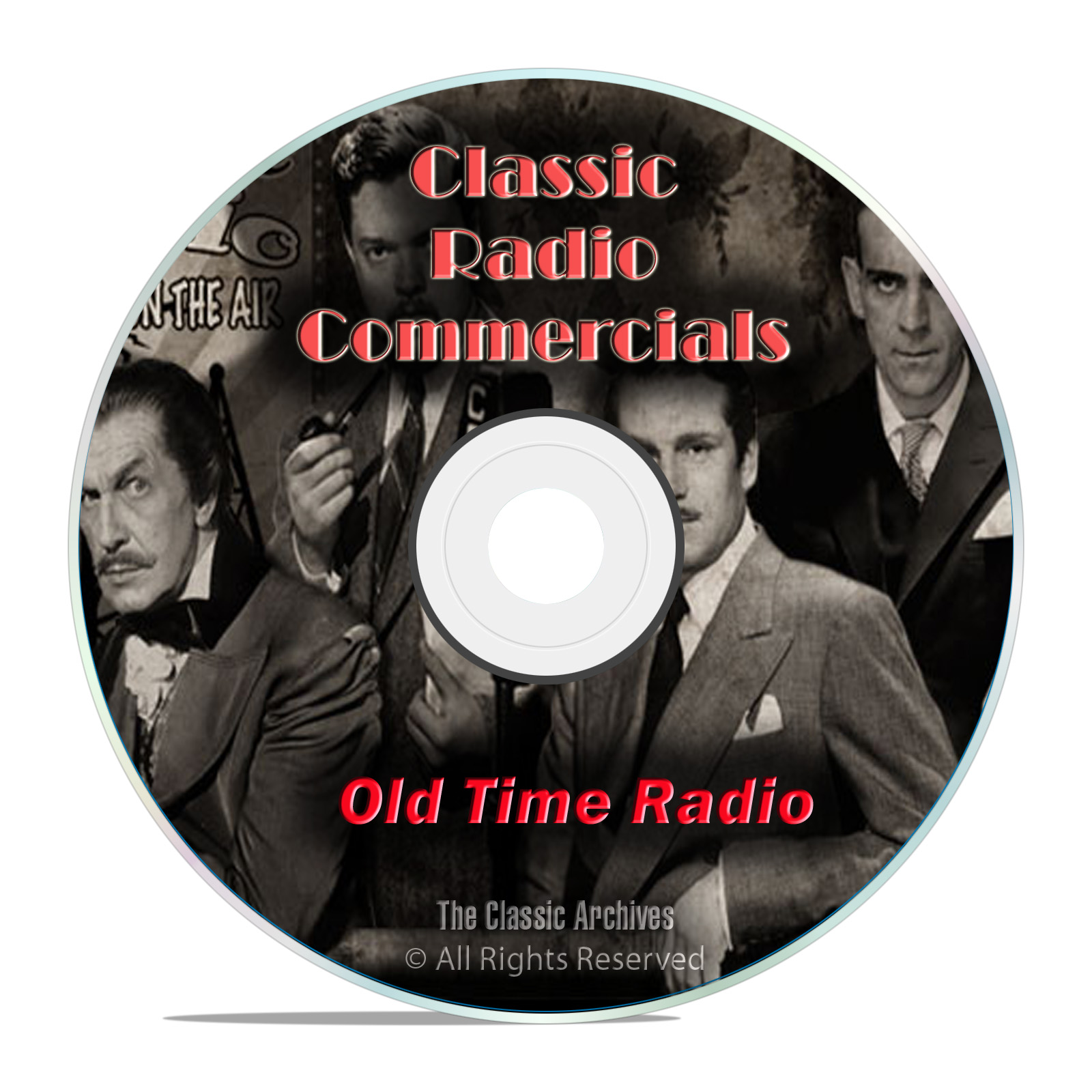 1,483 Classic Old Time Radio Commericals, Ads, Advertisments mp3 OTR DVD