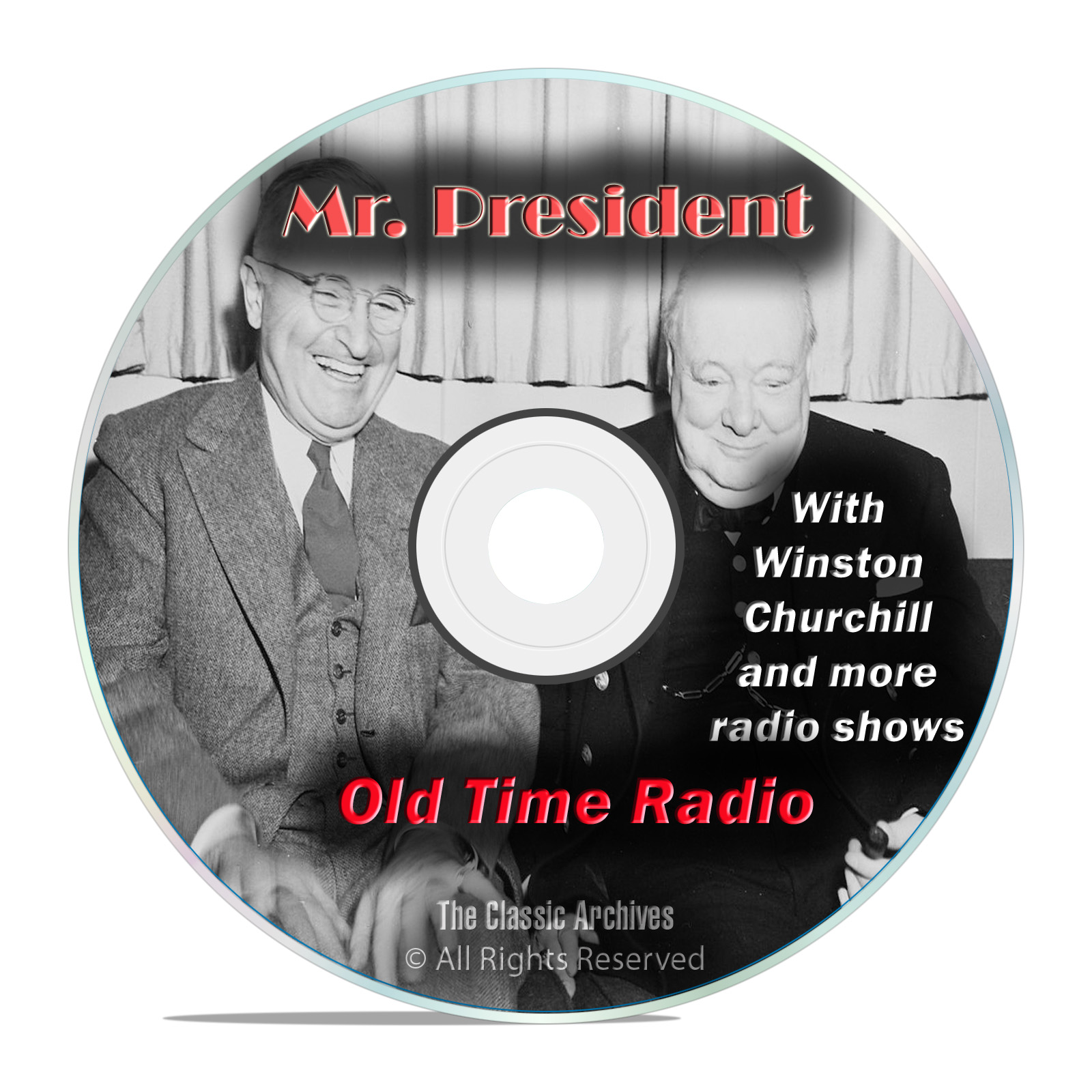 Mr President, 923 Old Time Radio Shows WWII Winston Churchill mp3 DVD