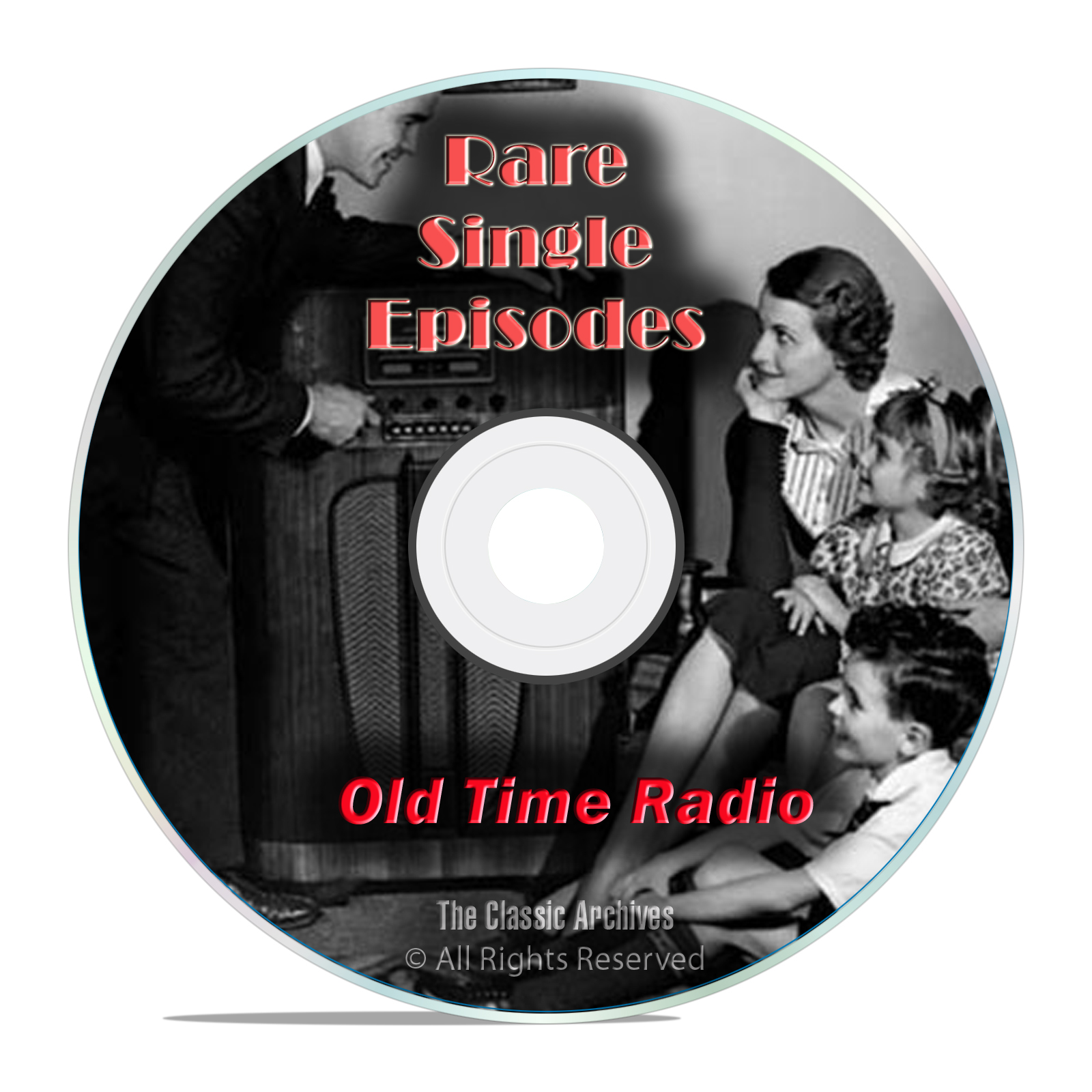 1,326 Old Time Radio, Rare Single Episodes, Old Lost Shows, mp3 2-DVD set