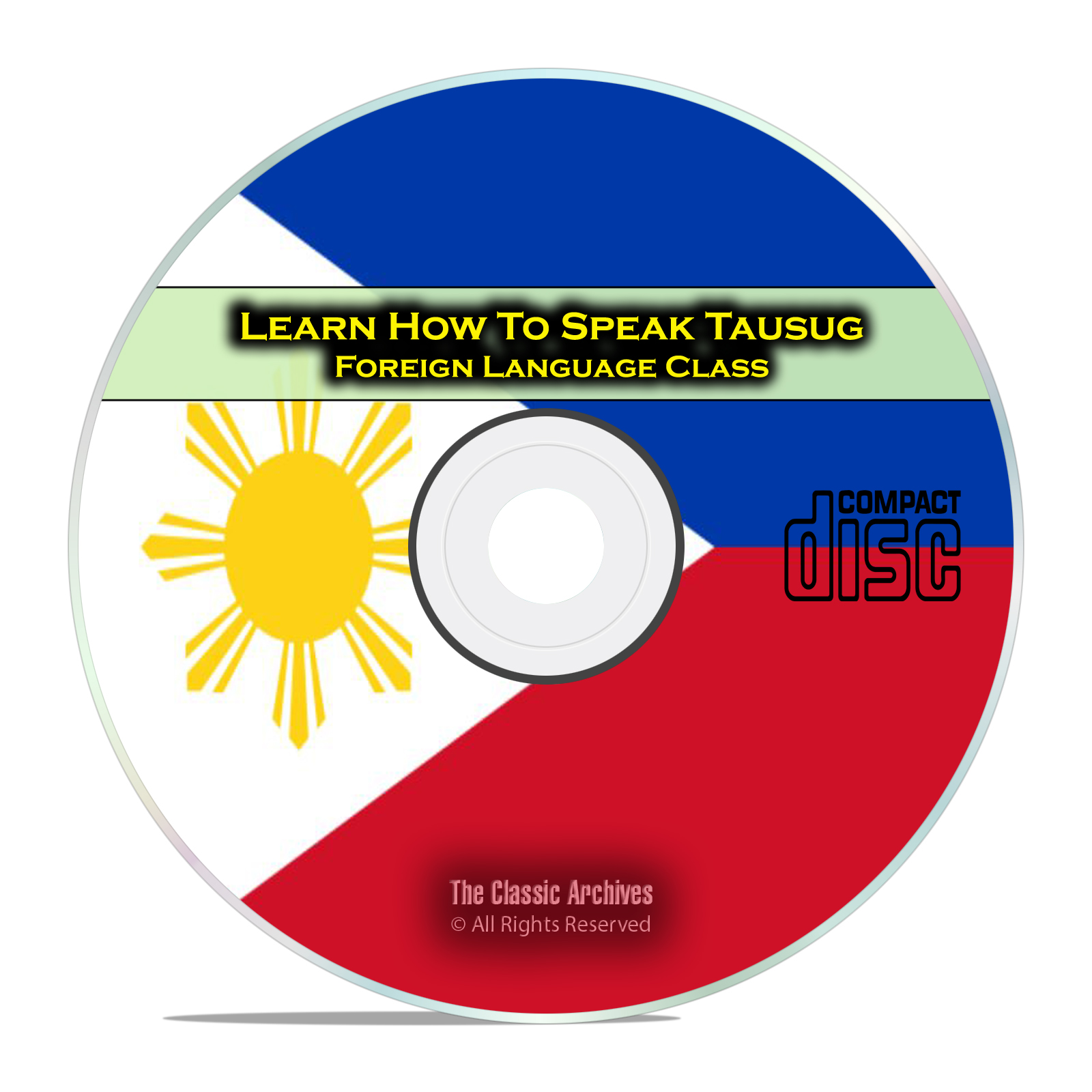 Learn How To Speak Tausug, Fast & Easy Foreign Language Training Course CD