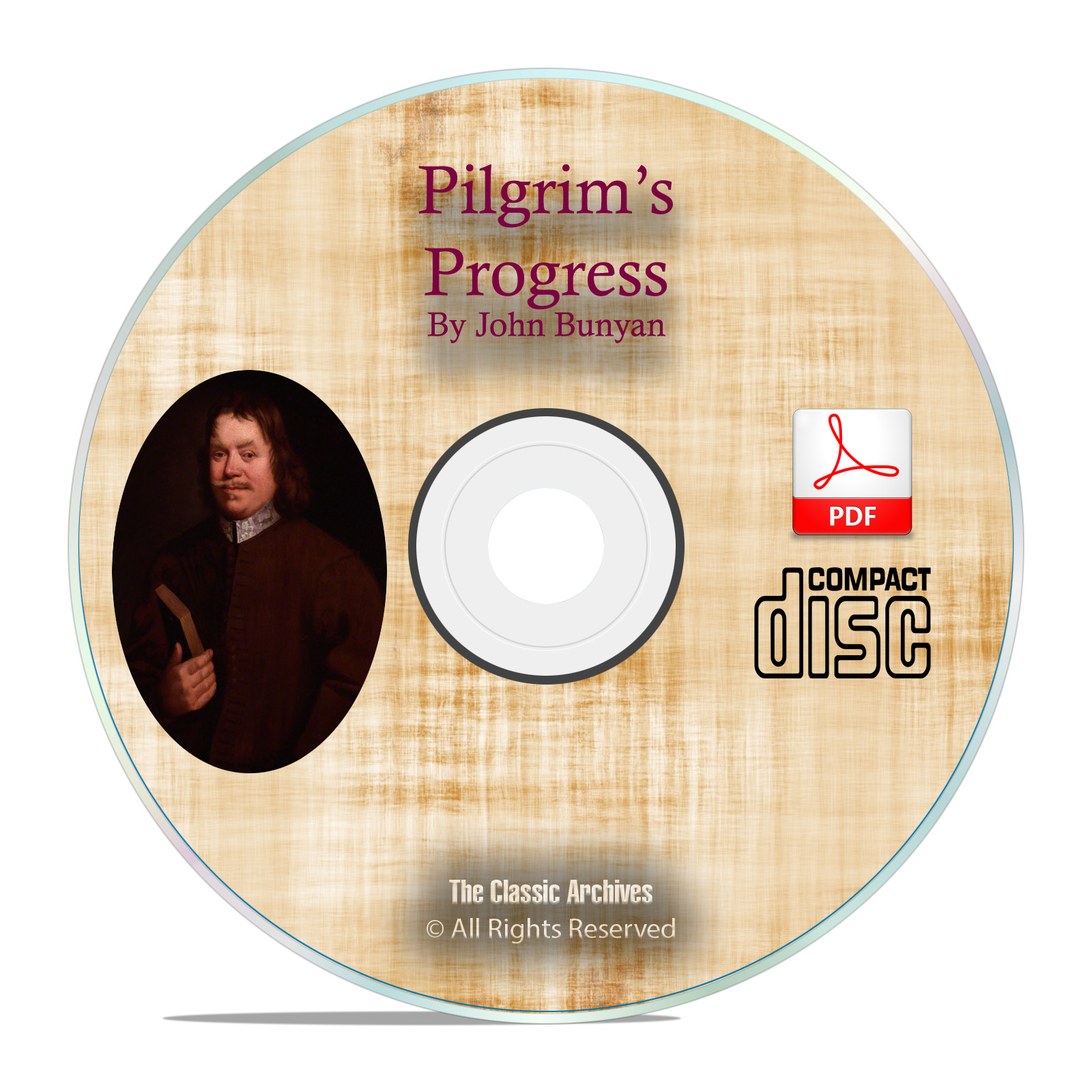 Pilgrim's Progress, by John Bunyan, Christian Biblical Bible Study PDF CD