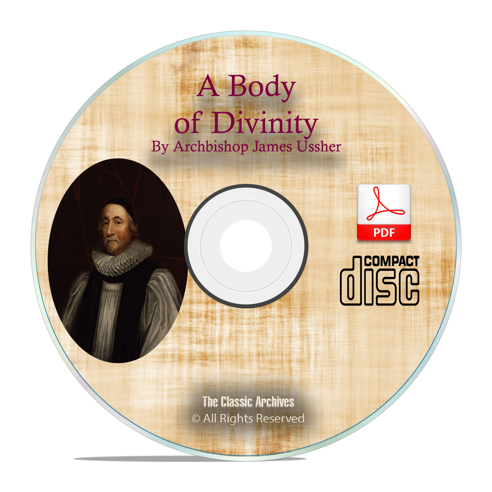 Body of Divinity, by James Ussher, Christian Bible Study Commentary PDF CD