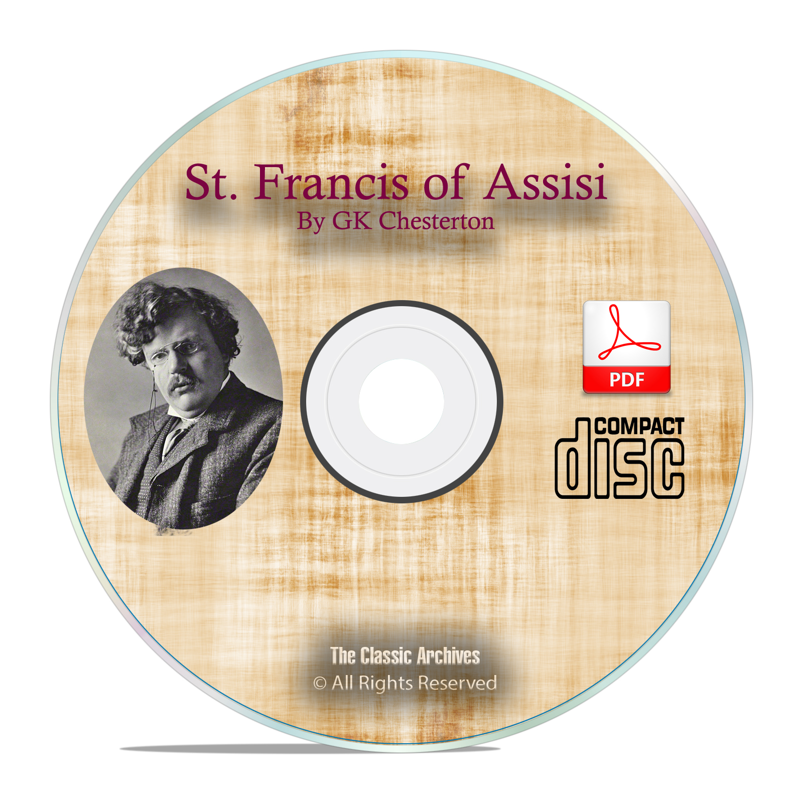 St. Francis of Assisi, GK Chesterton Christian Church History Bible PDF CD