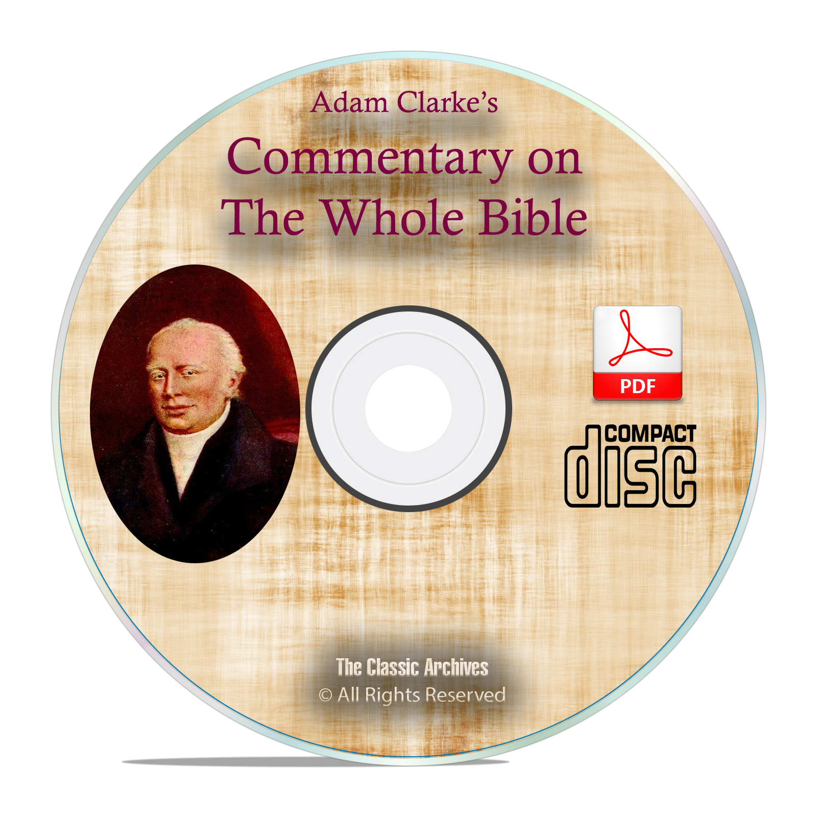 Adam Clarke's Commentary on Whole Bible, Christian Scripture Study PDF CD