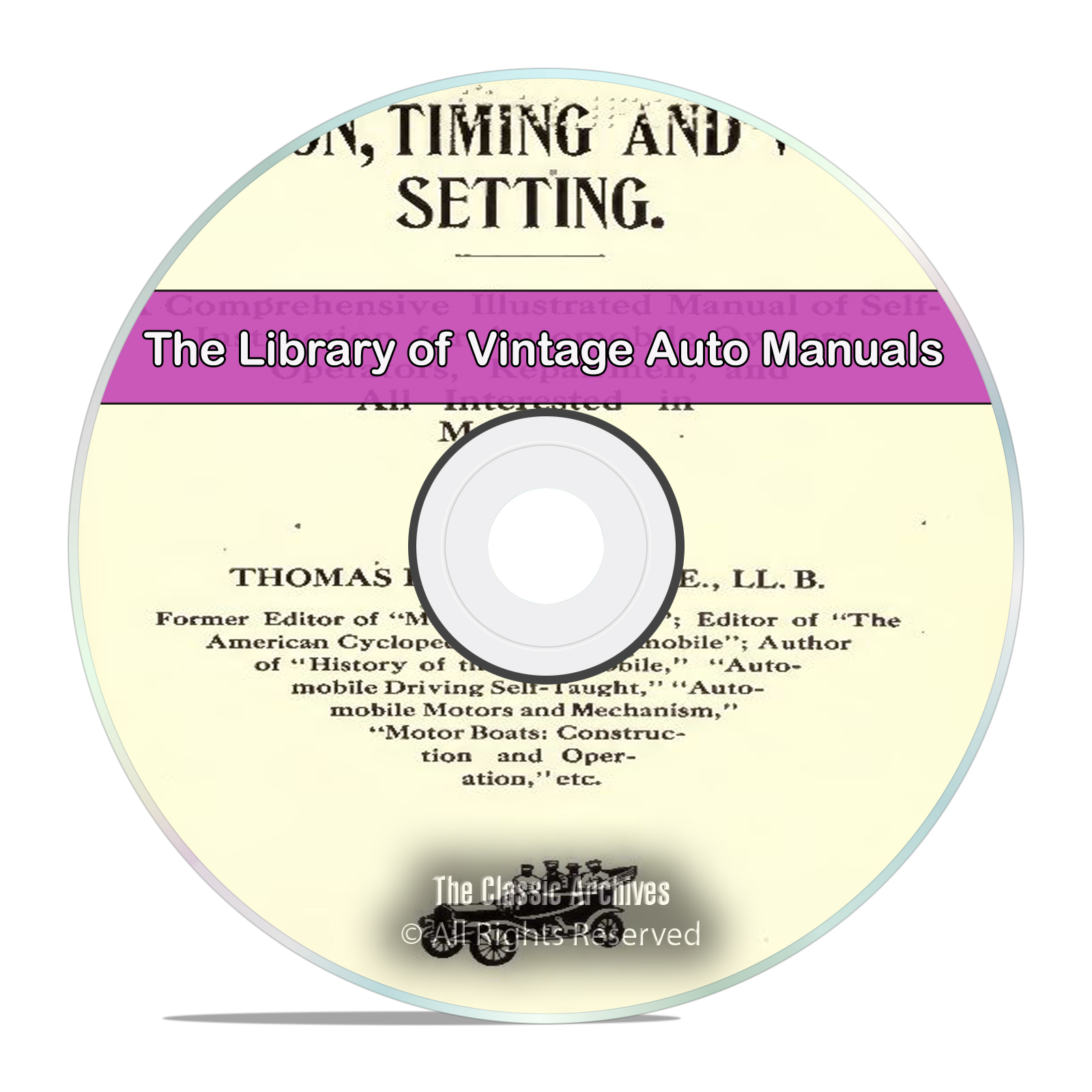 Vintage Automobile Manual Library, 60 Books, Repair, How To, Electrical DVD