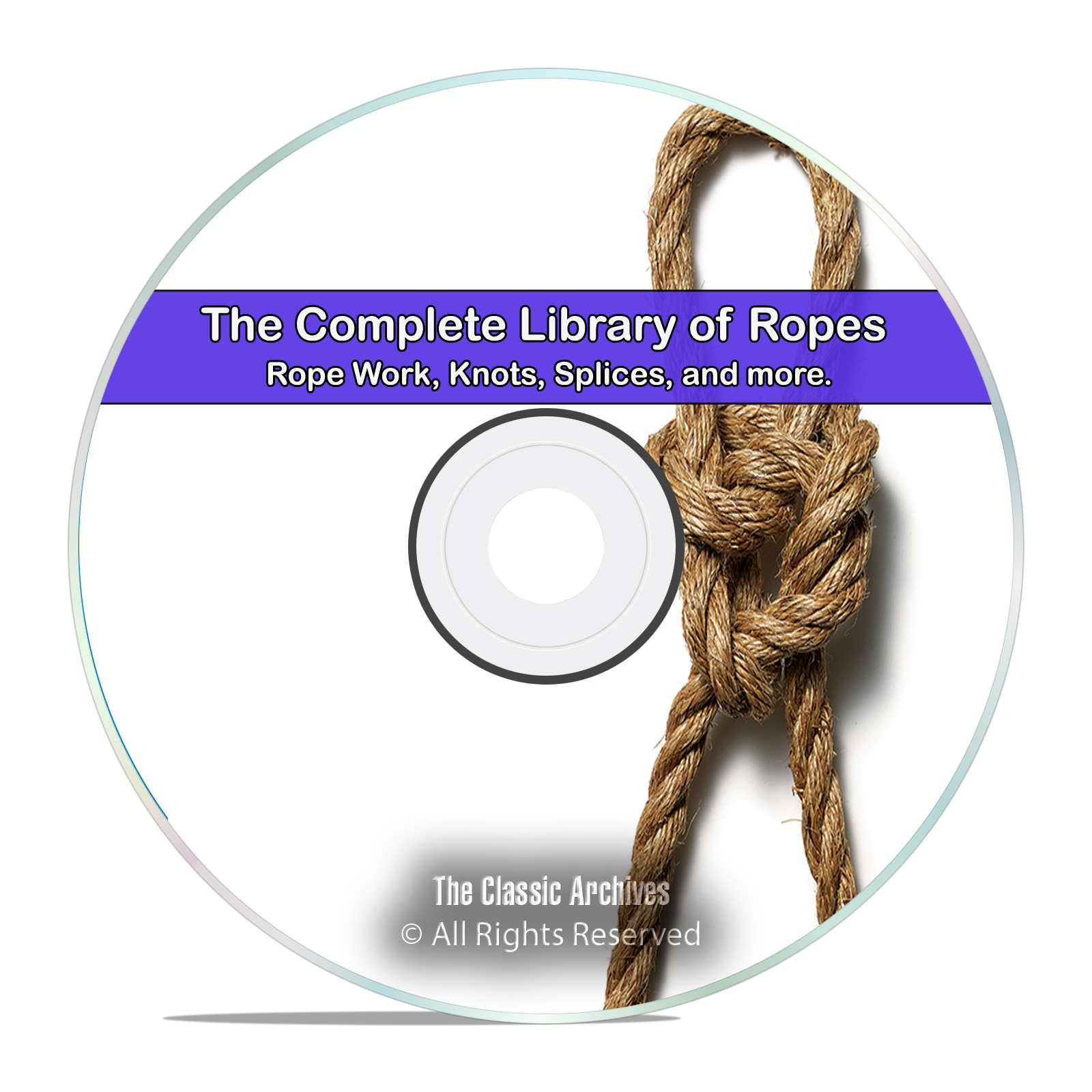 Vintage Library of Rope Work, 25 Books, How to Tie Knots & Splices, PDF CD